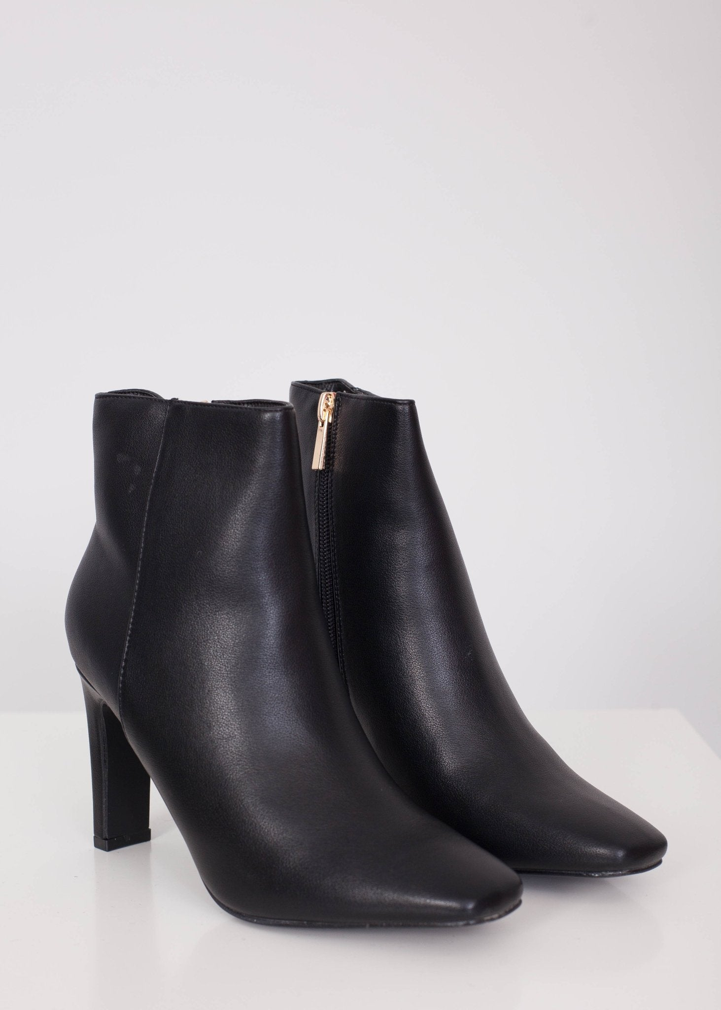 Priya Black Square Toe Bootie - The Walk in Wardrobe