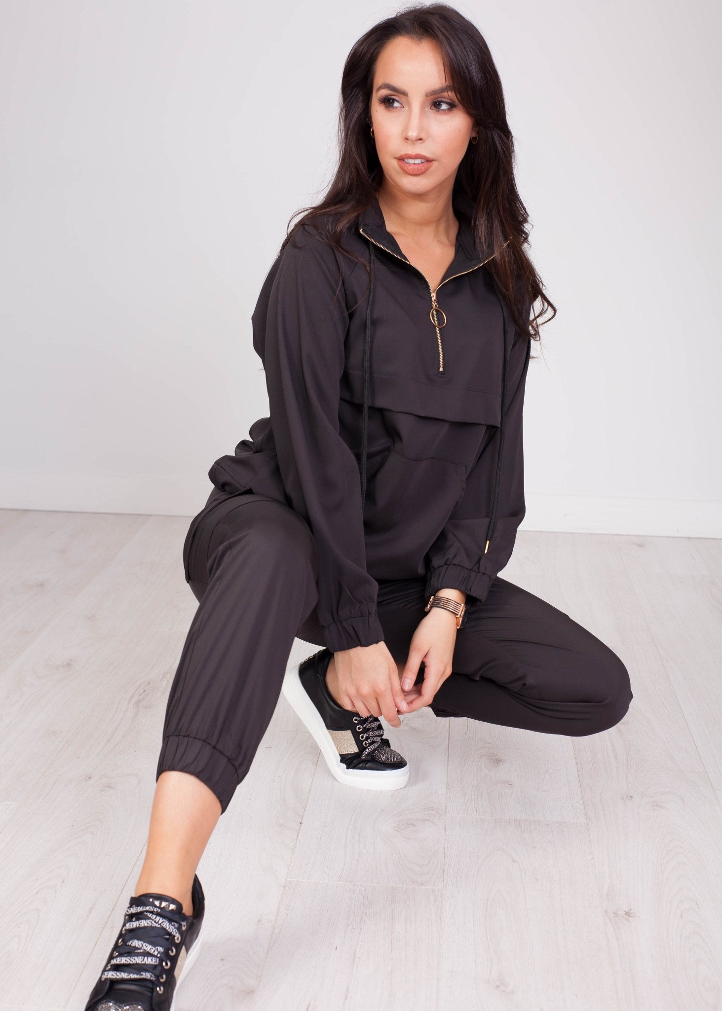 Priya Black Utility Tracksuit - The Walk in Wardrobe
