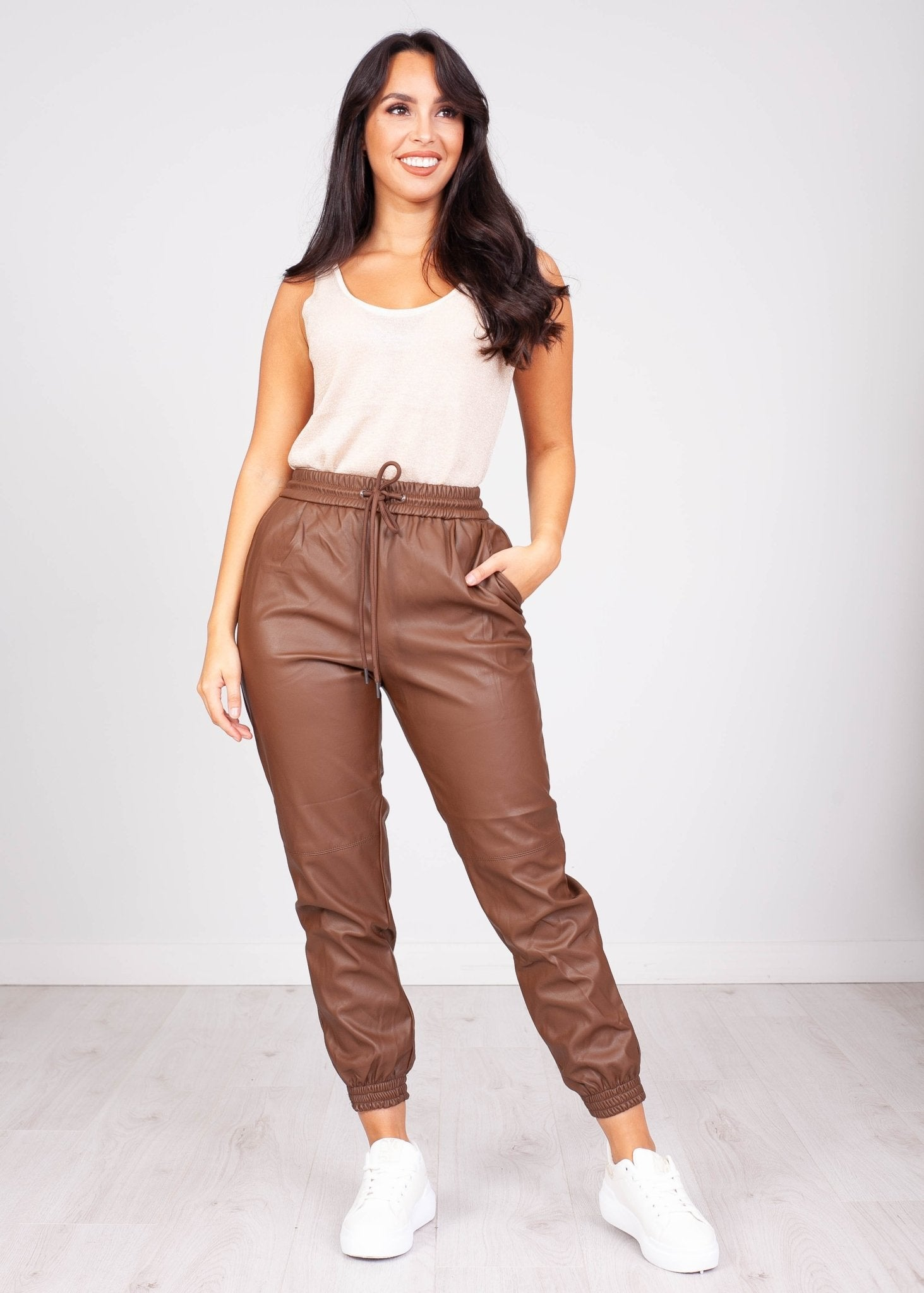 Priya Bown Leather Jogger - The Walk in Wardrobe