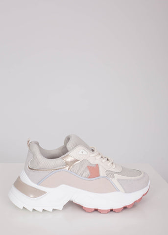 Priya Chunky Trainer in Grey - The Walk in Wardrobe