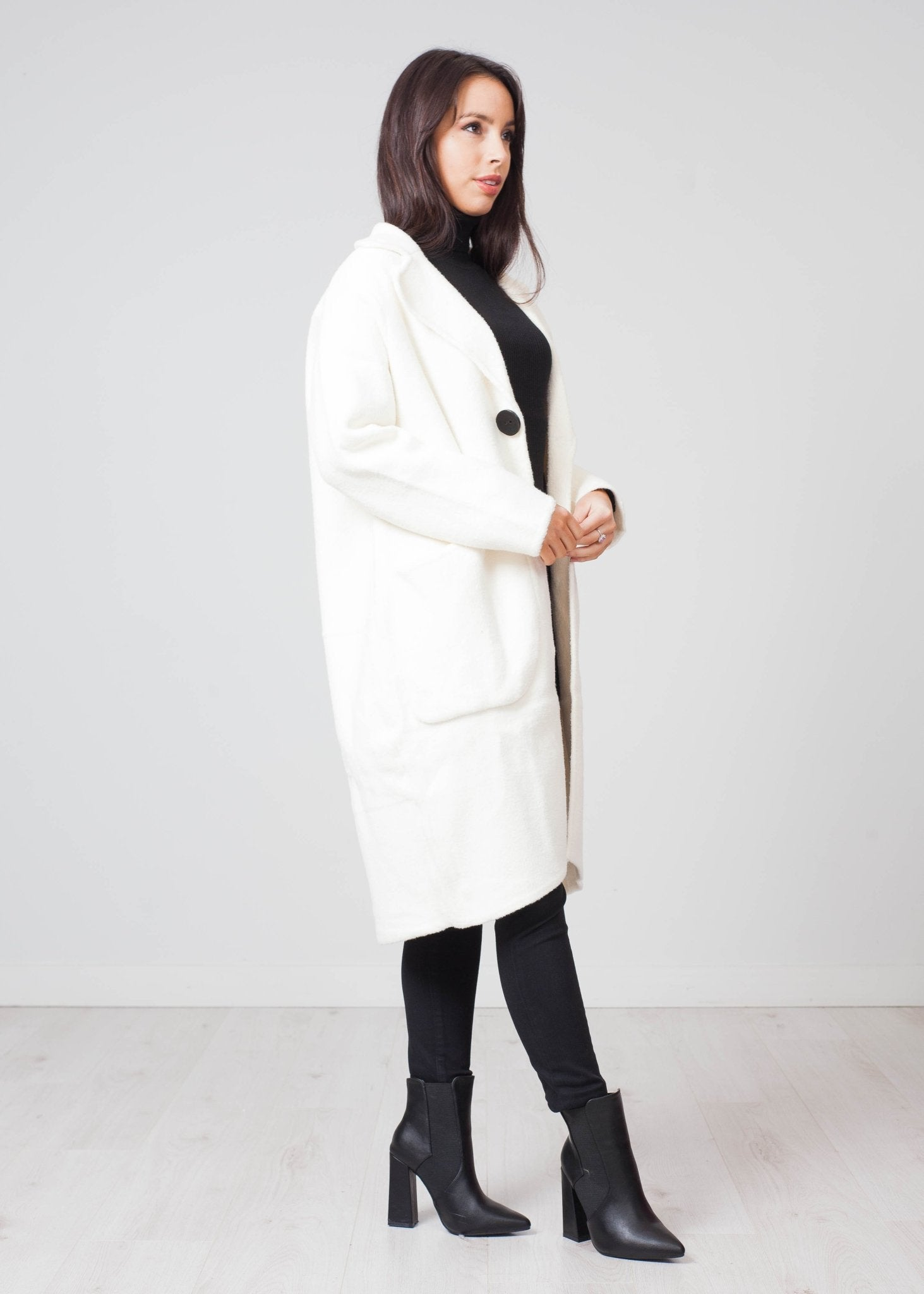 Priya Coatigan In Winter White - The Walk in Wardrobe