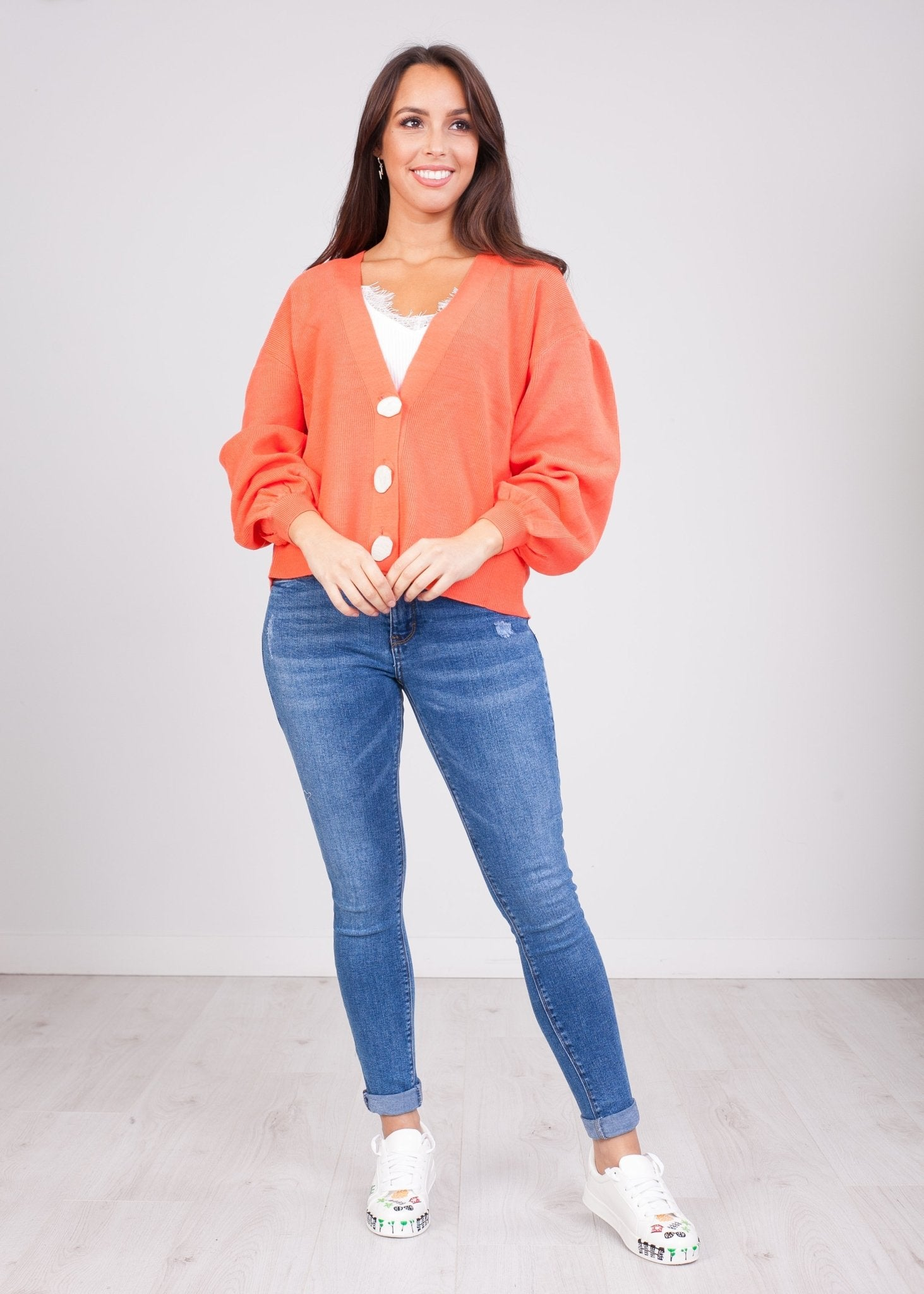 Priya Coral Cardigan - The Walk in Wardrobe