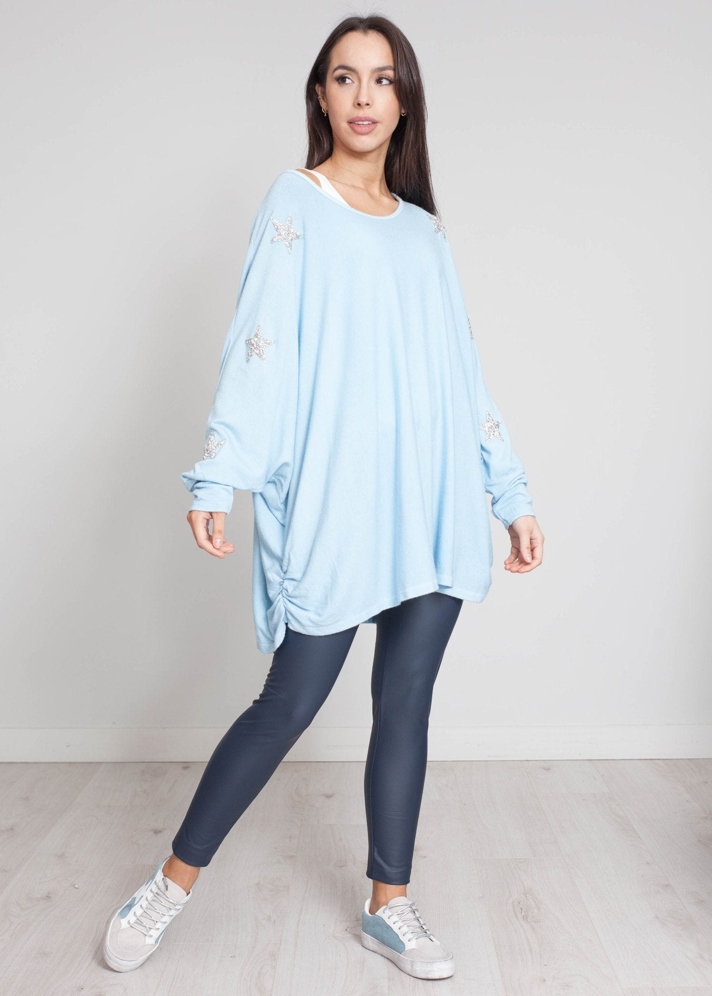 Priya Embellished Knit In Blue - The Walk in Wardrobe
