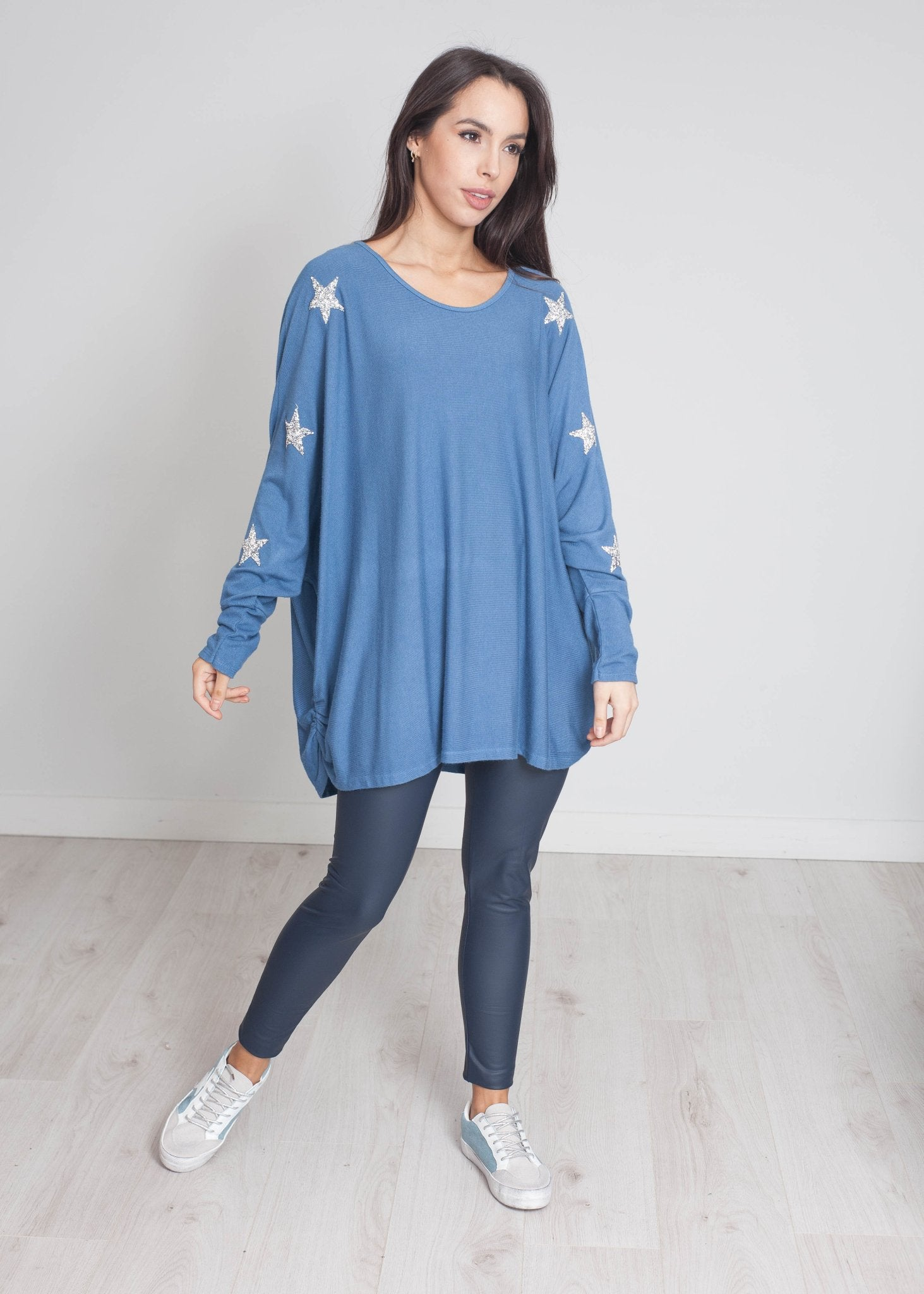 Priya Embellished Knit In Denim - The Walk in Wardrobe