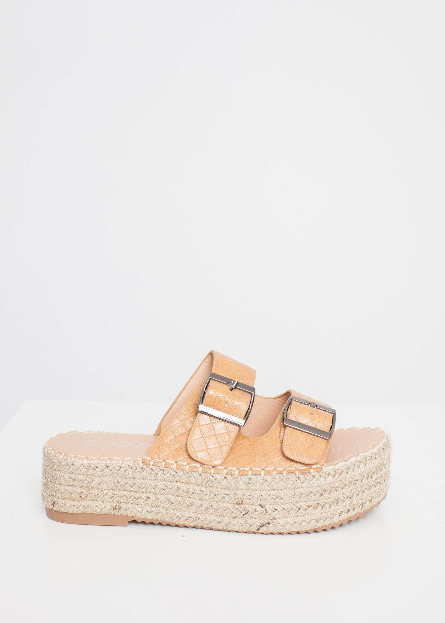 Priya Espadrille Sandal In Tan - The Walk in Wardrobe