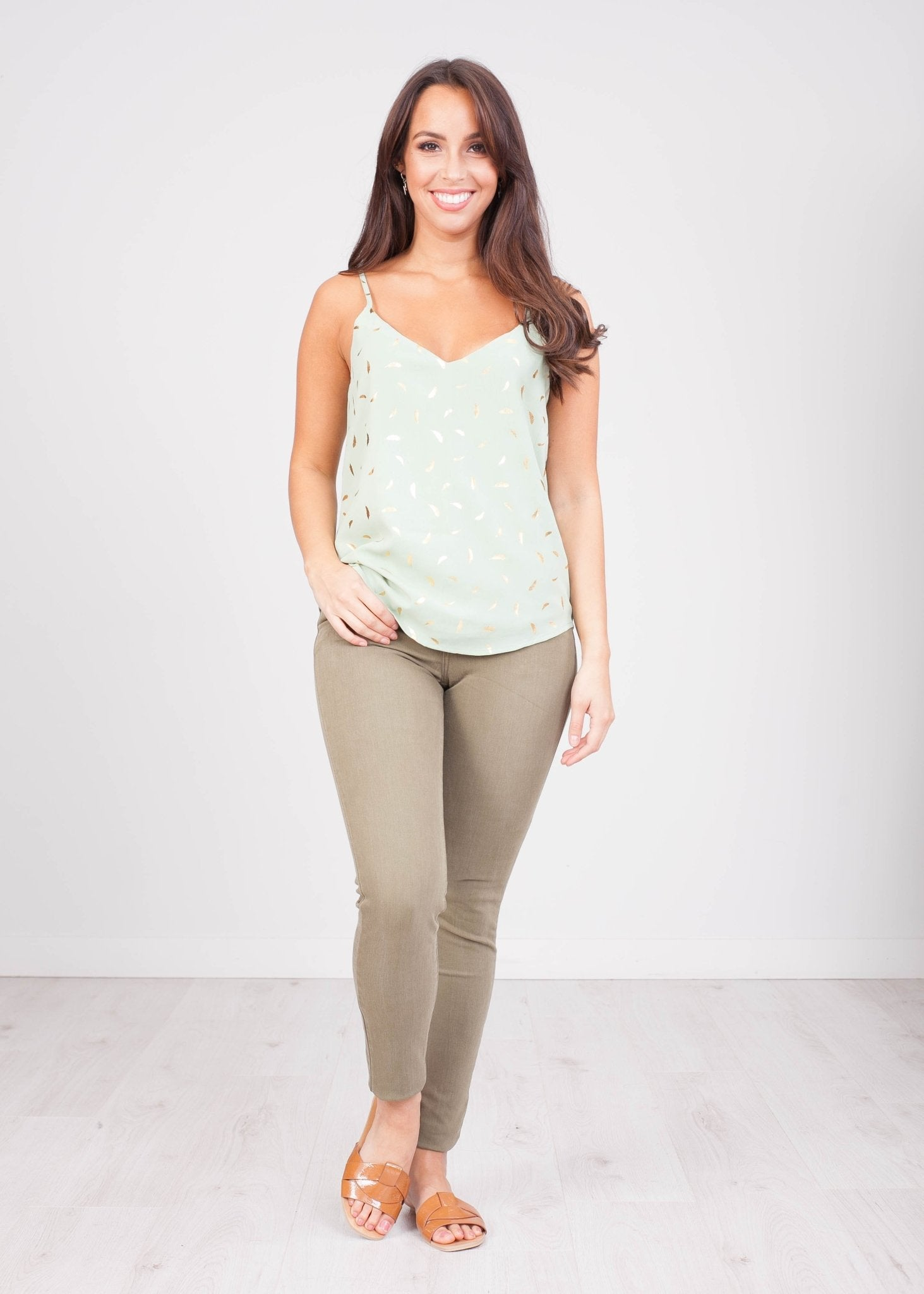Priya Green Cami - The Walk in Wardrobe