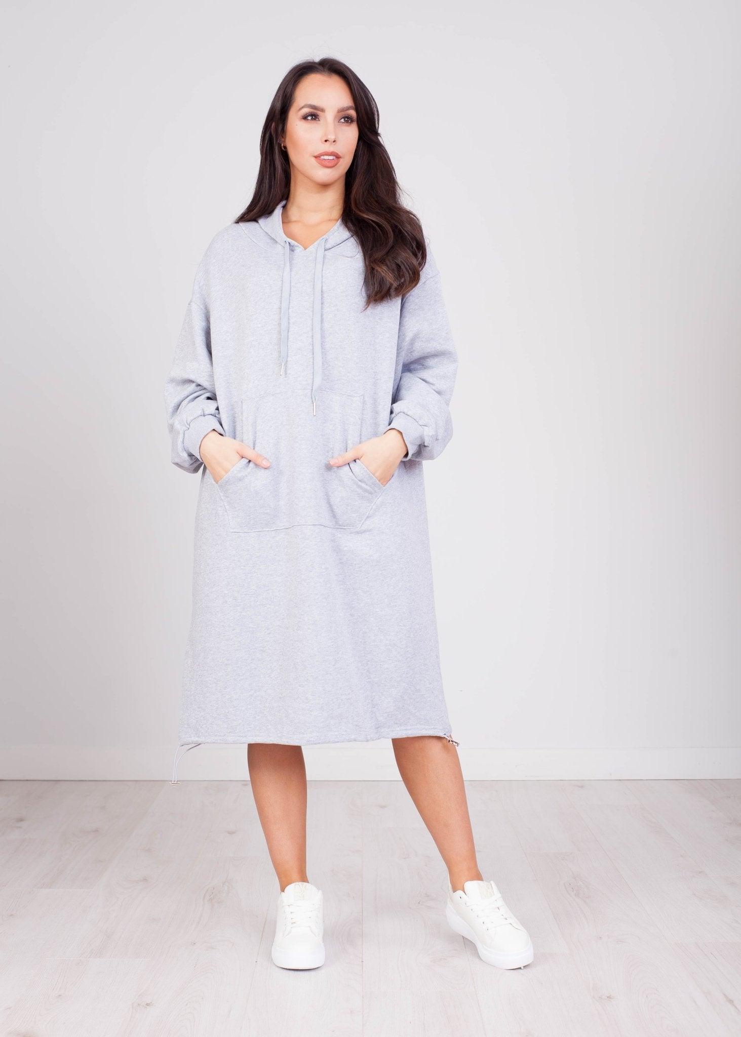 Priya Grey Hoodie Dress - The Walk in Wardrobe