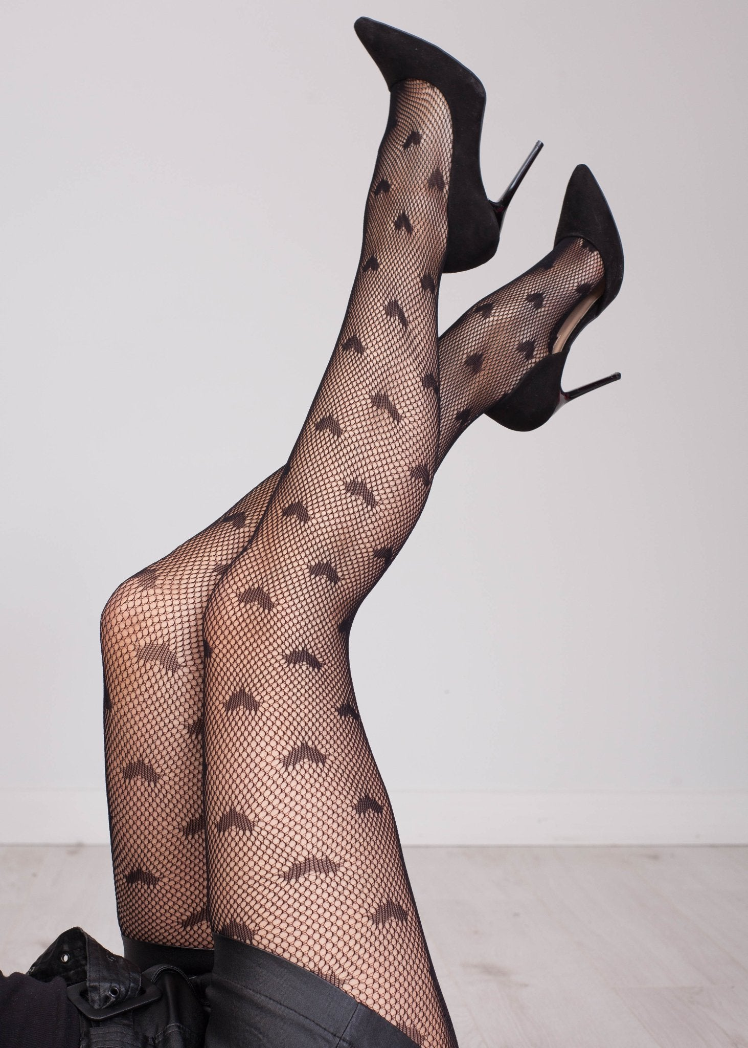 Priya Heart & Fishnet Tights - The Walk in Wardrobe