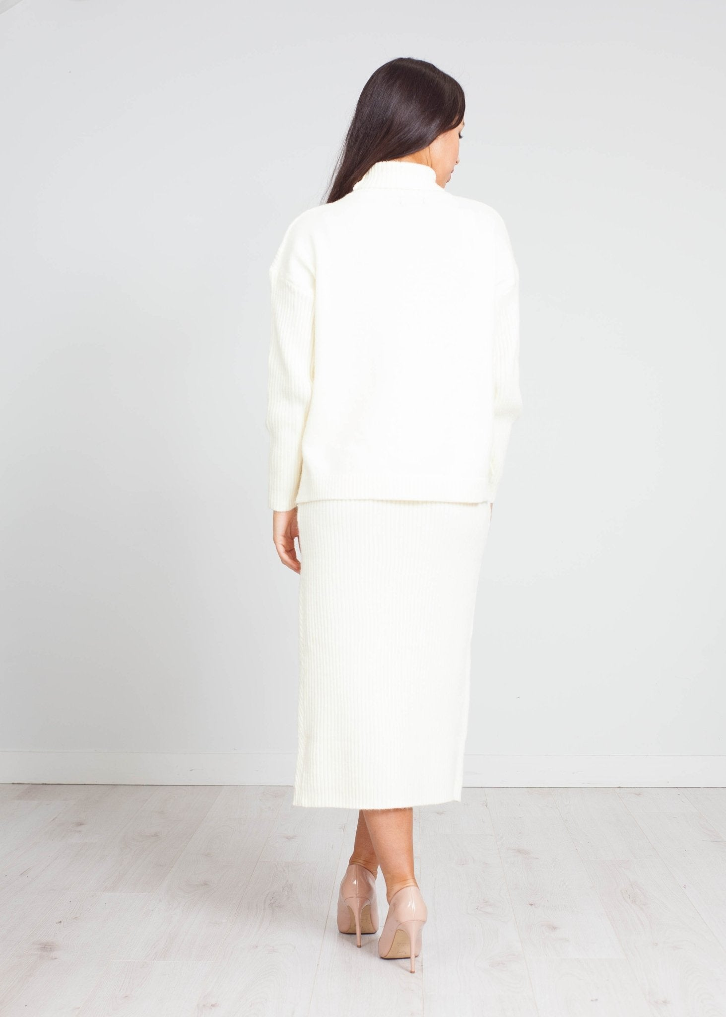 Priya Knit Two Piece In Winter White - The Walk in Wardrobe