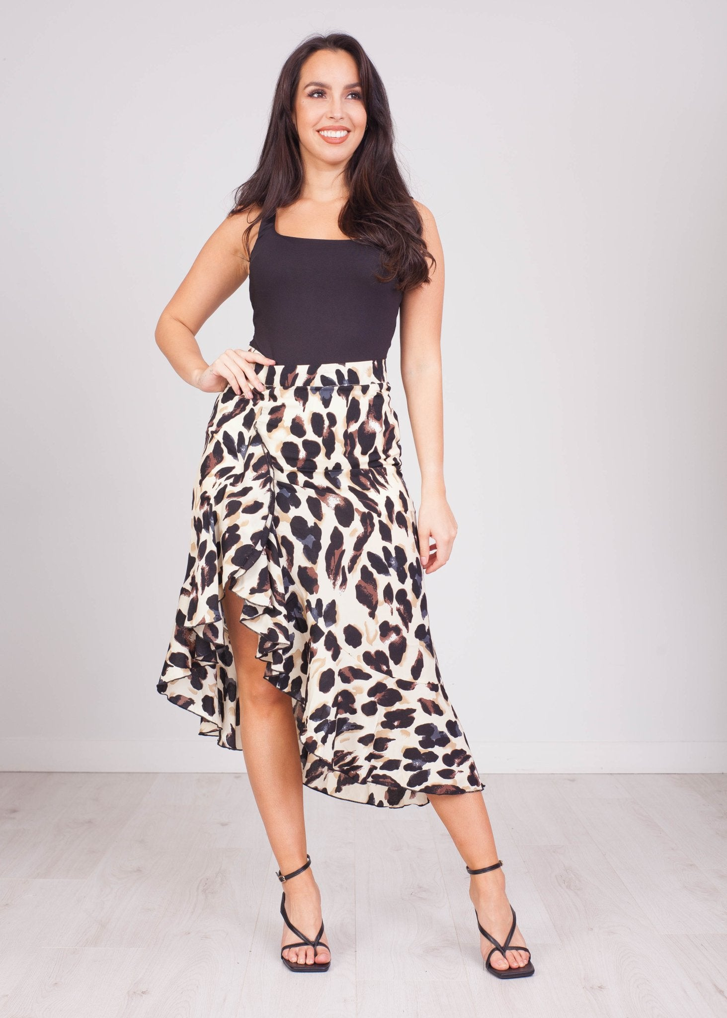 Priya Leopard Print Ruffle Skirt - The Walk in Wardrobe