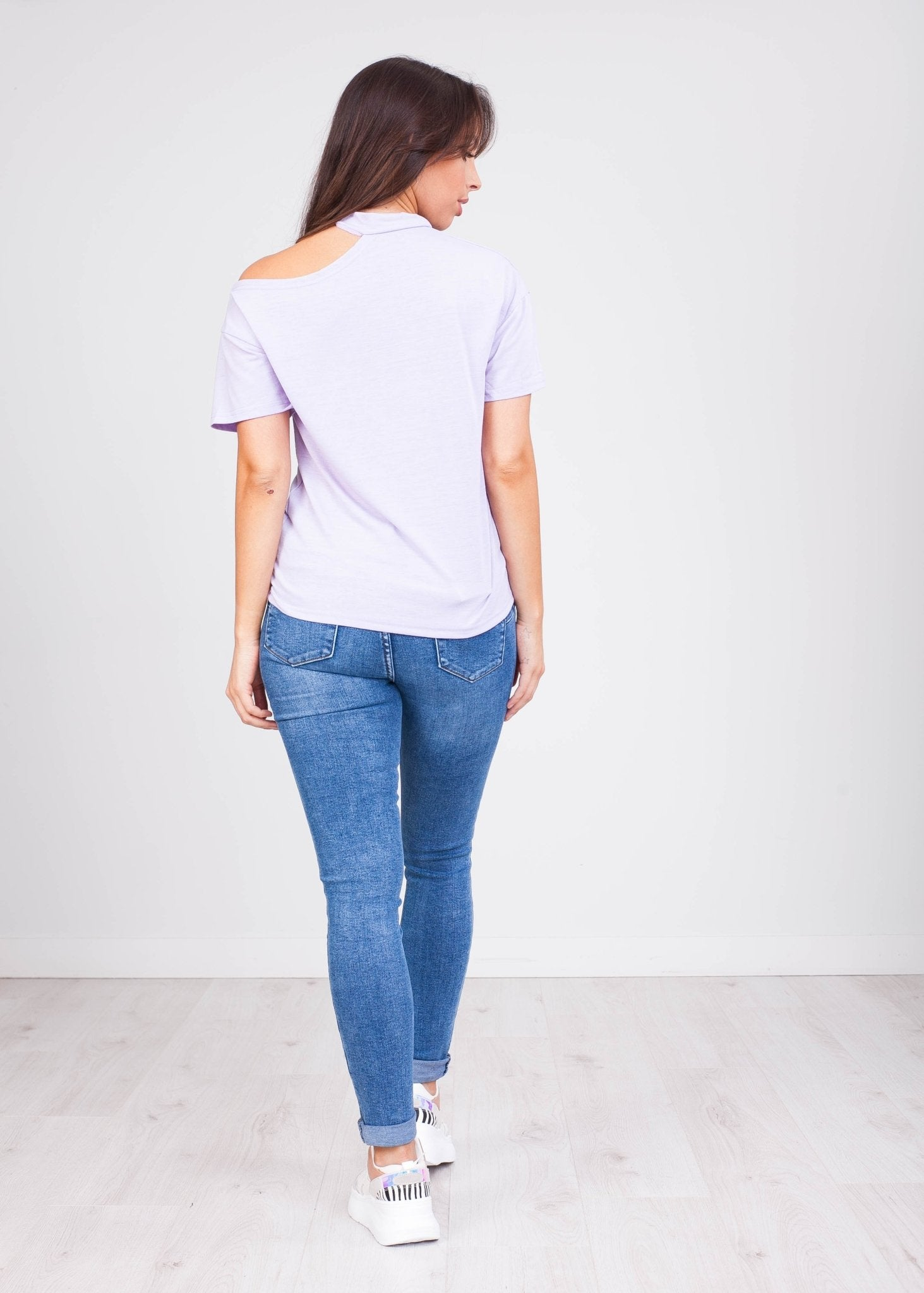 Priya Lilac Open Shoulder Top - The Walk in Wardrobe