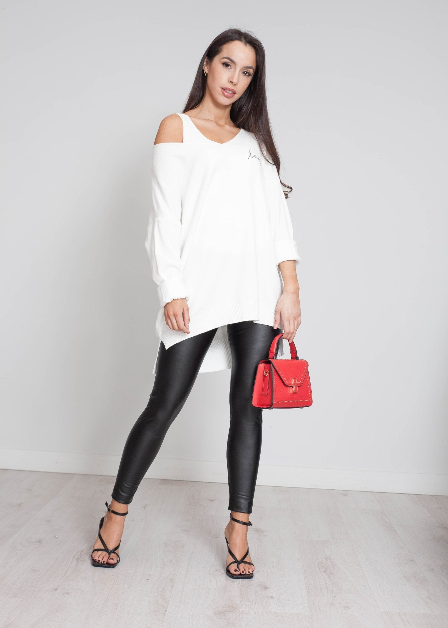 Priya Love Logo Knit In White - The Walk in Wardrobe