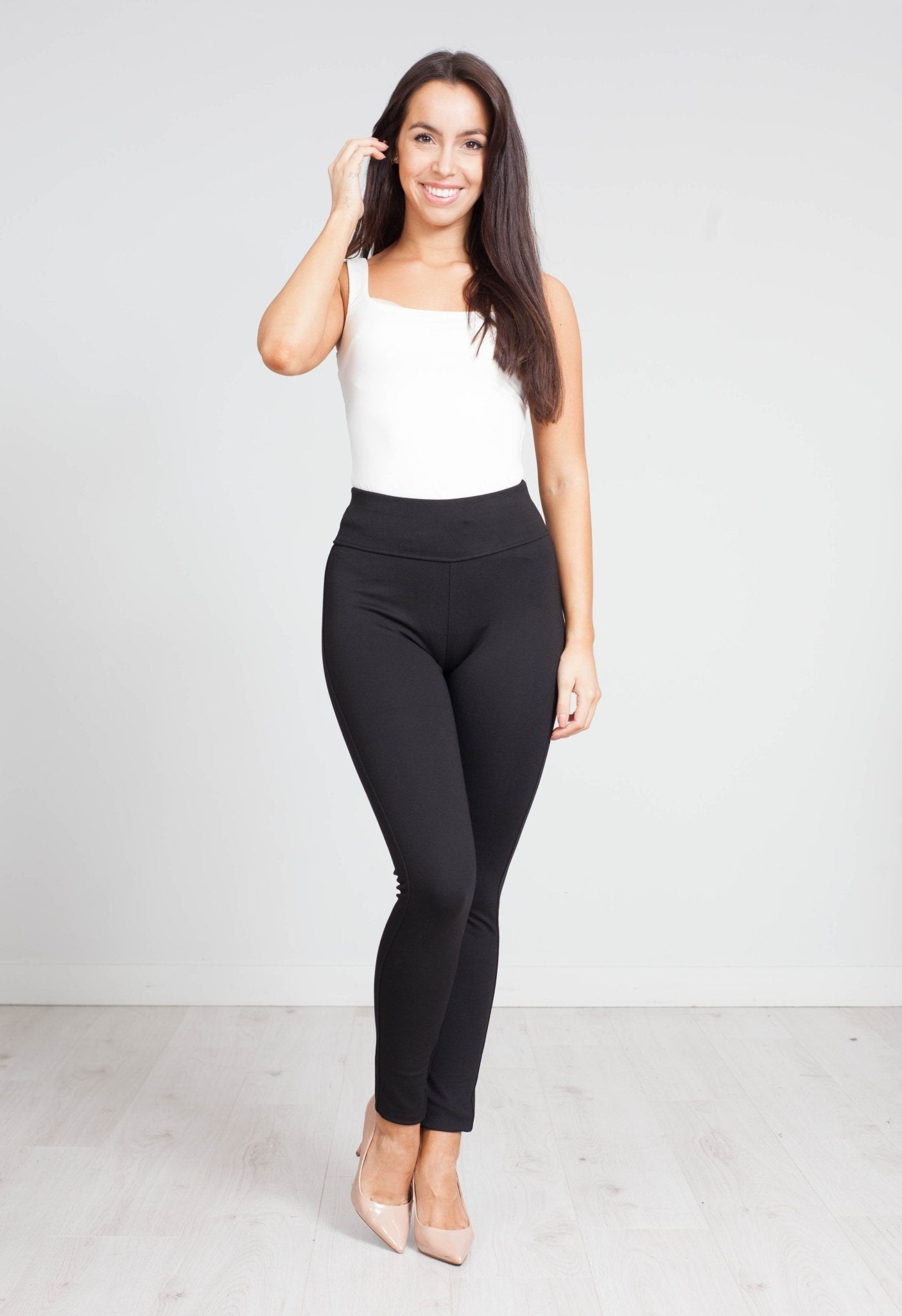 Priya Luxe Sport Legging In Black - The Walk in Wardrobe