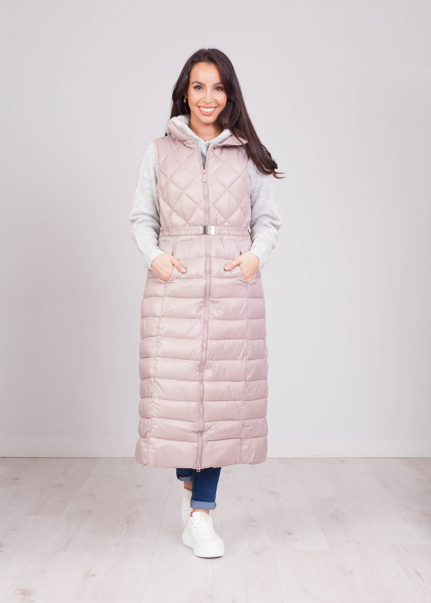 Priya Mauve Longline Gilet - The Walk in Wardrobe