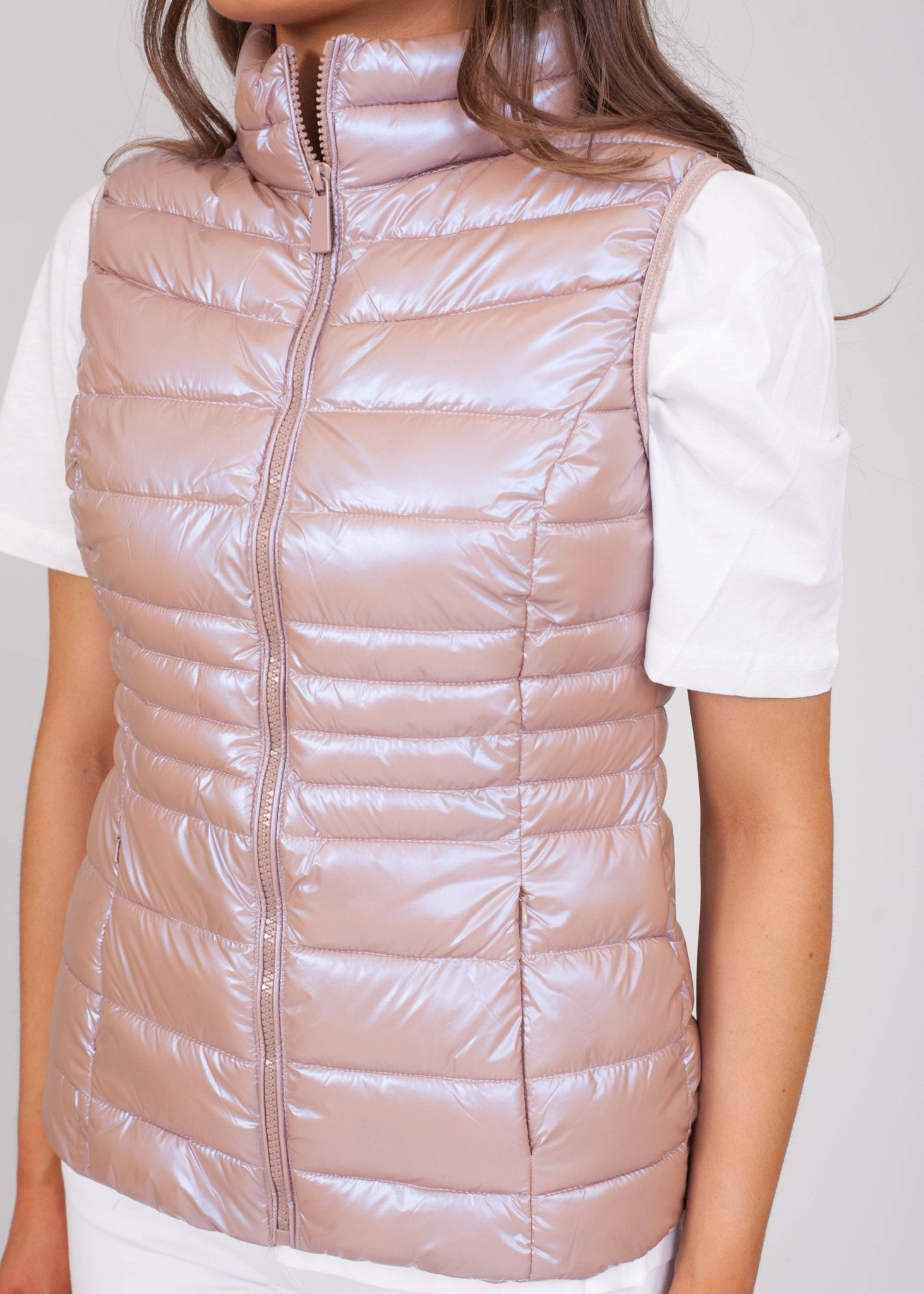 Priya Metallic Shimmer Gilet - The Walk in Wardrobe