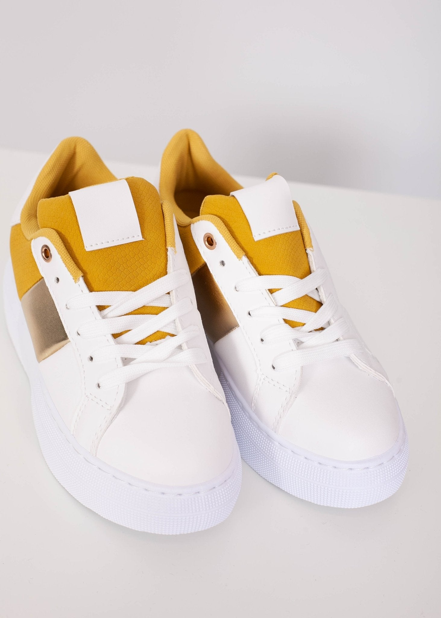 Priya Mustard Platform Trainers - The Walk in Wardrobe