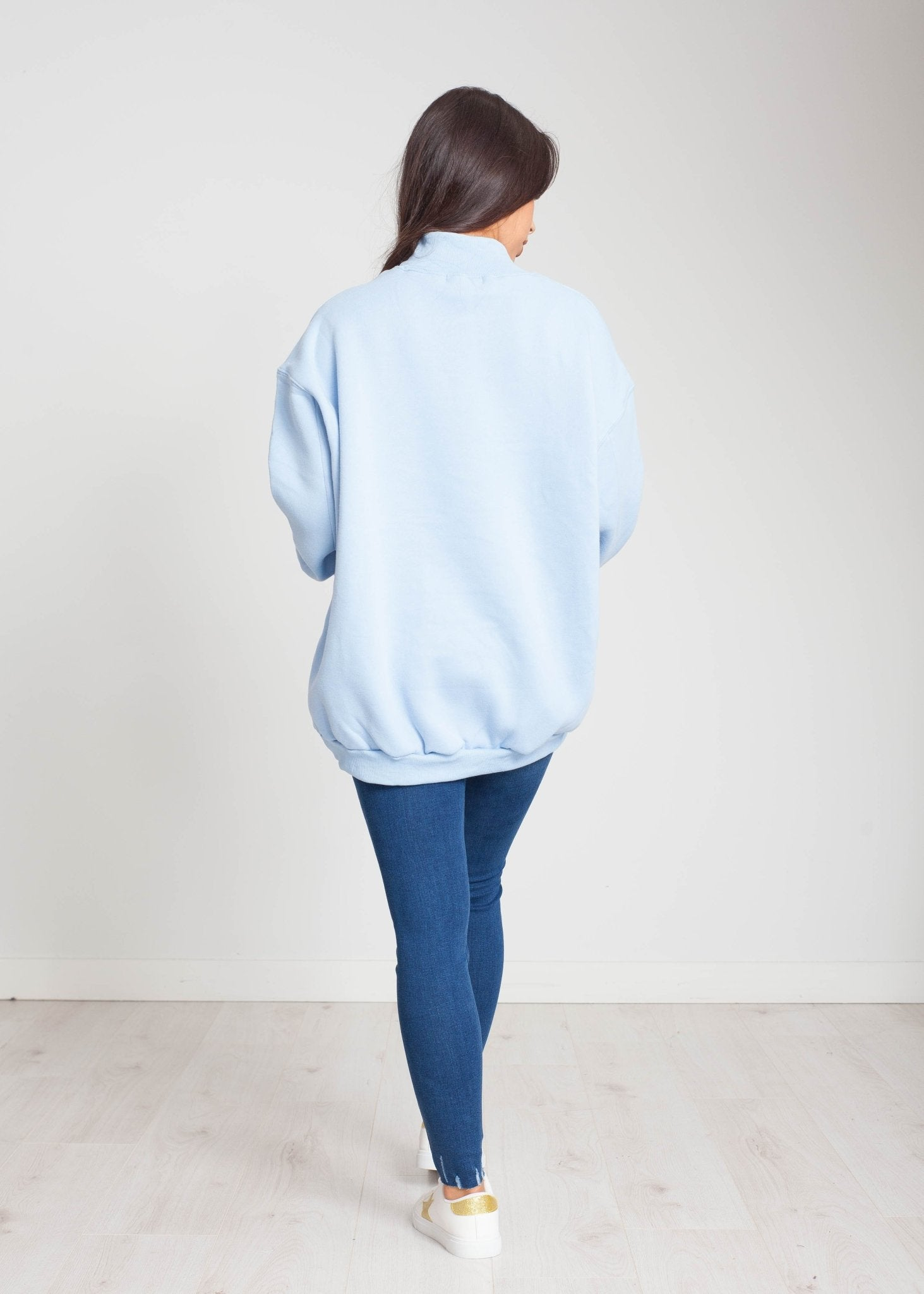 Priya Oversized Sweatshirt In Blue - The Walk in Wardrobe