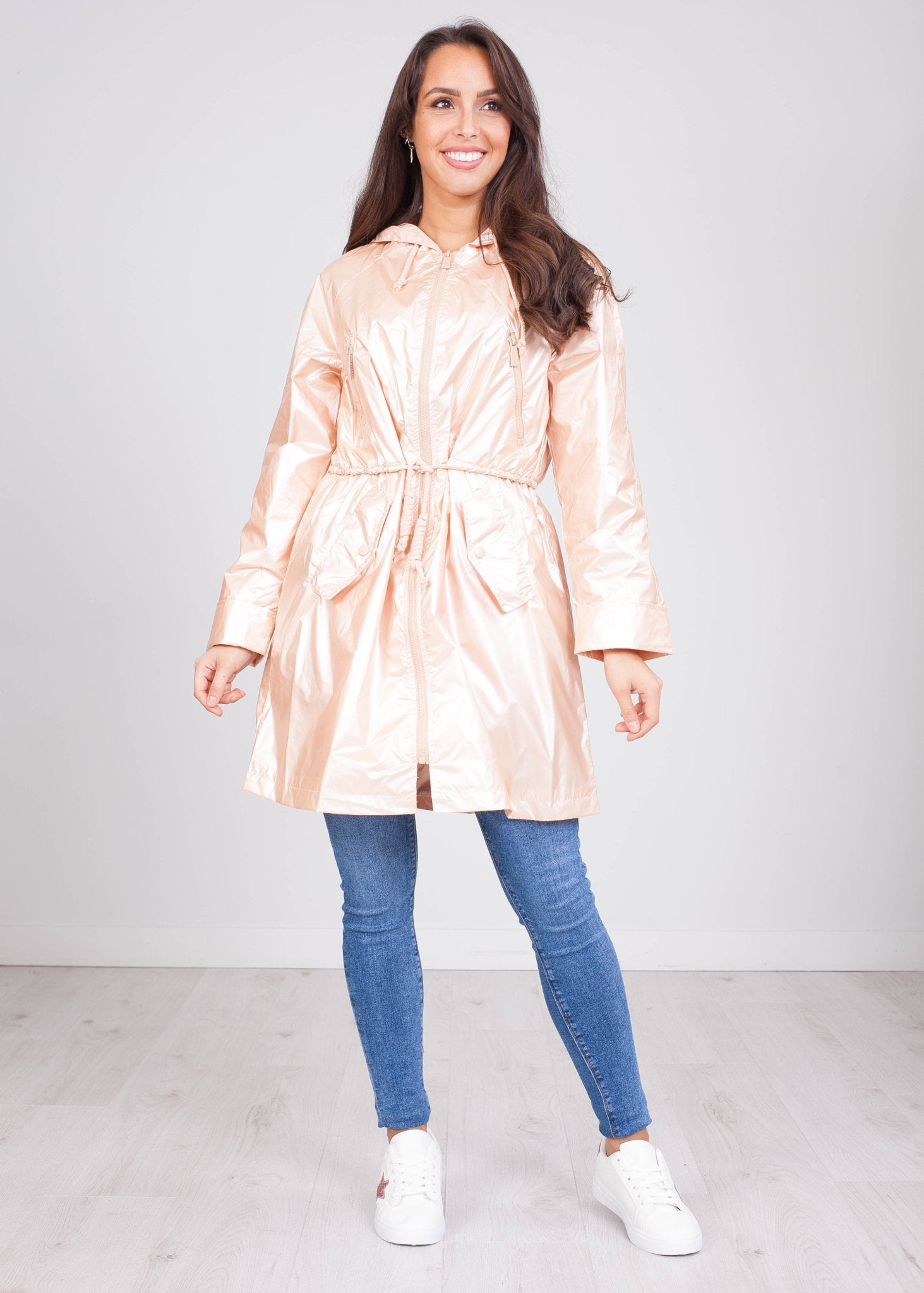 Priya Pearl Rain Coat - The Walk in Wardrobe