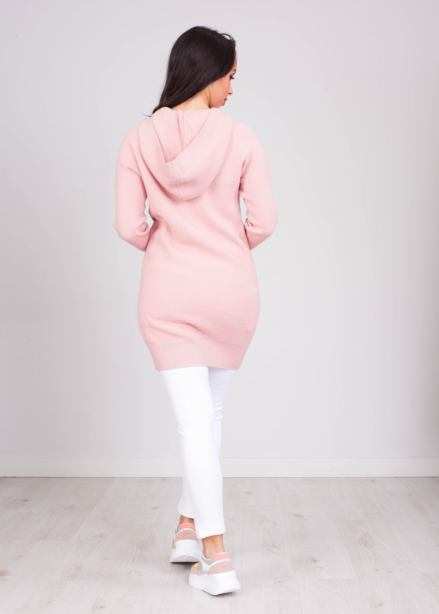 Priya Pink Hoodie Dress with Jewels - The Walk in Wardrobe
