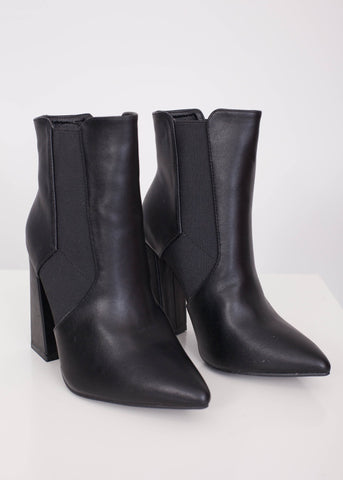 Priya Pointed Toe Boot in Black - The Walk in Wardrobe