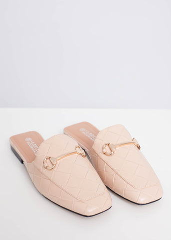 Priya Quilted Mule In Neutral - The Walk in Wardrobe