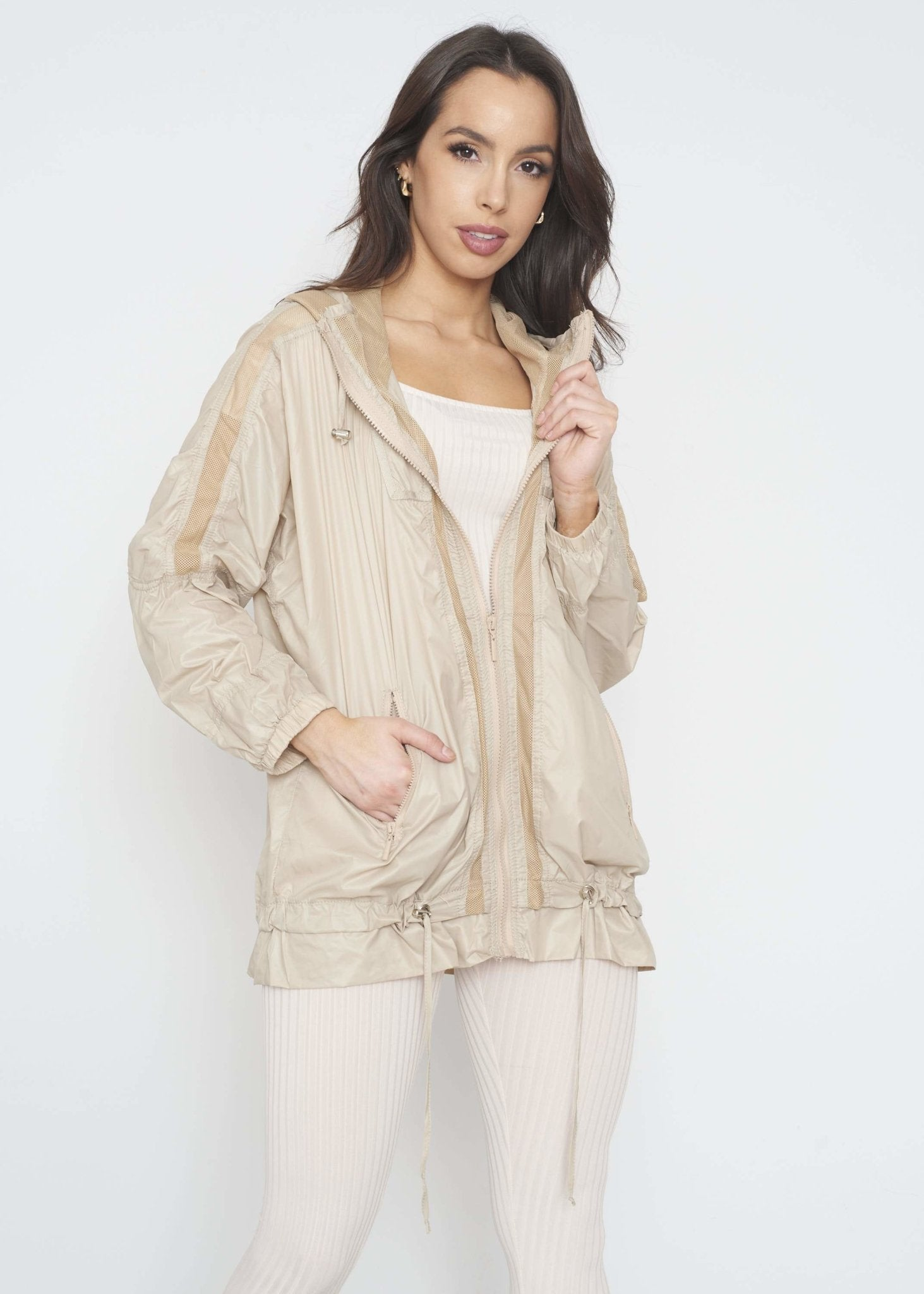 Priya Raincoat In Neutral - The Walk in Wardrobe
