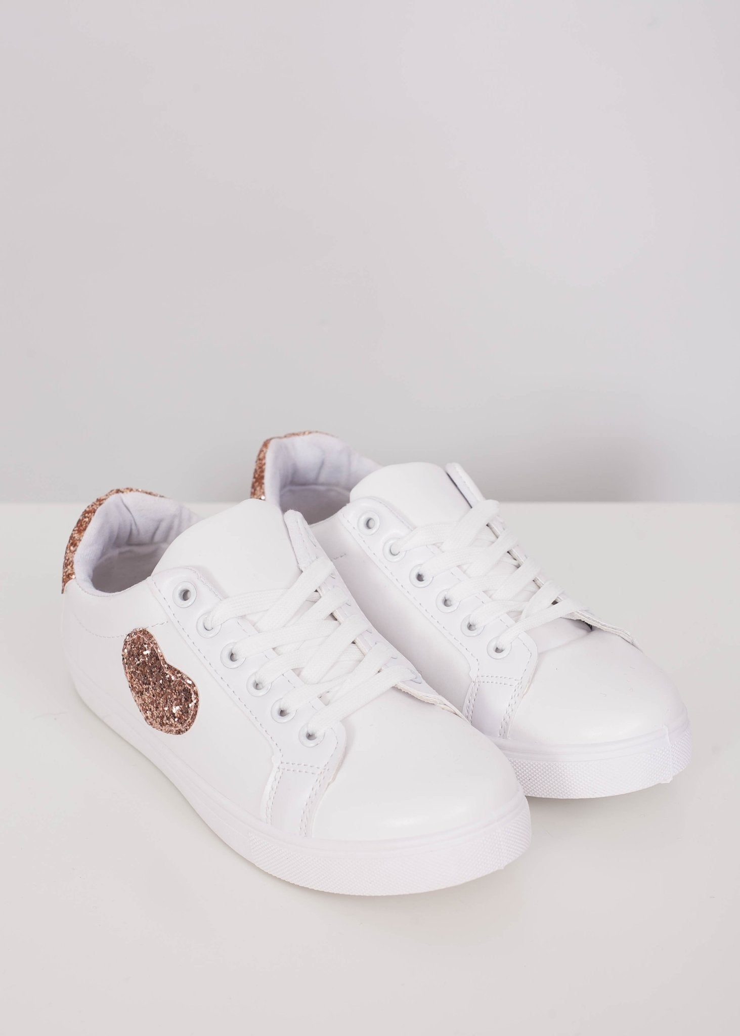 Priya Rose Gold Heart Trainer - The Walk in Wardrobe