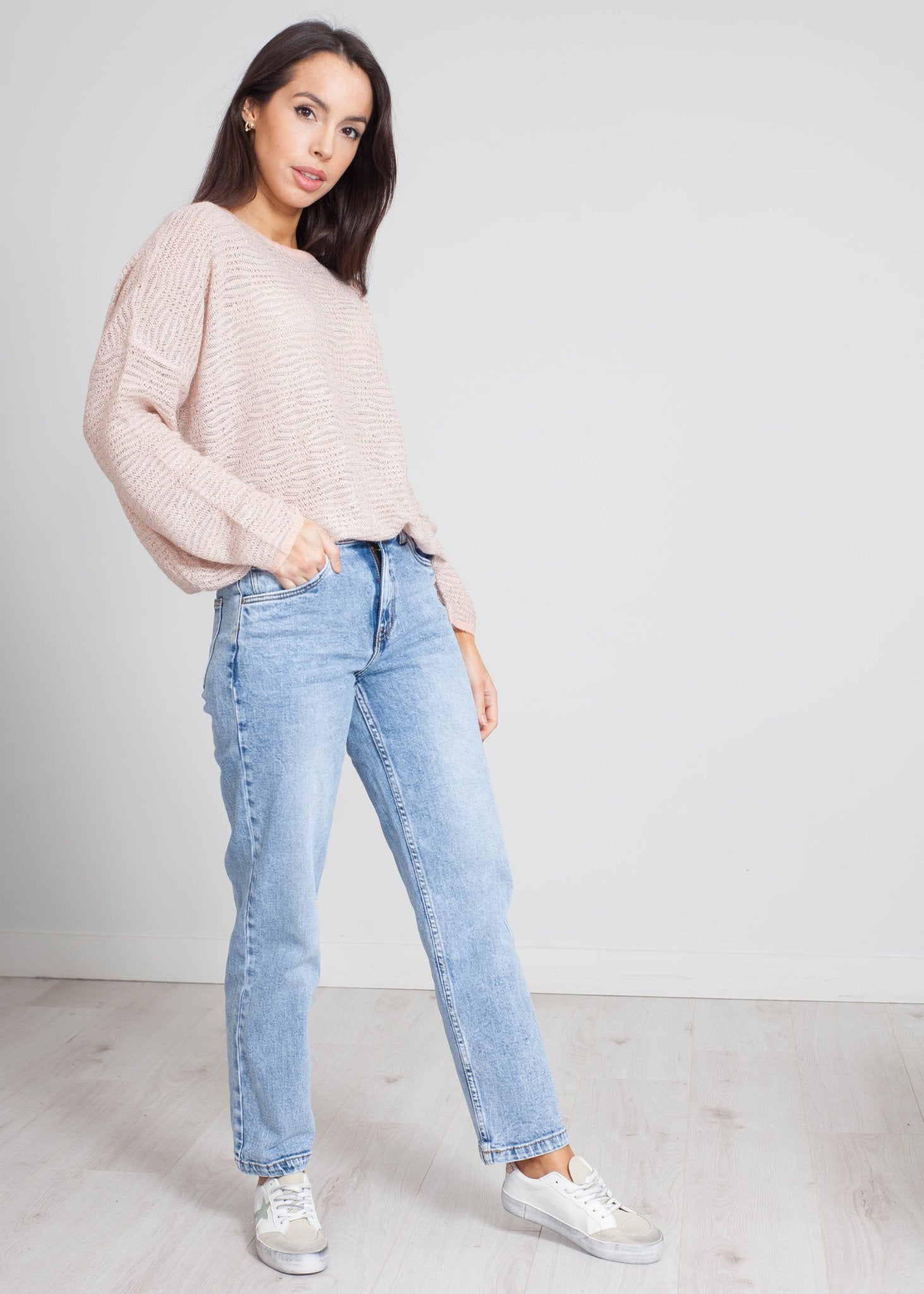 Priya Shimmer Knit In Rose - The Walk in Wardrobe