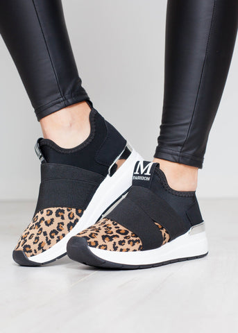 Priya Slip On Trainer In Animal Print - The Walk in Wardrobe