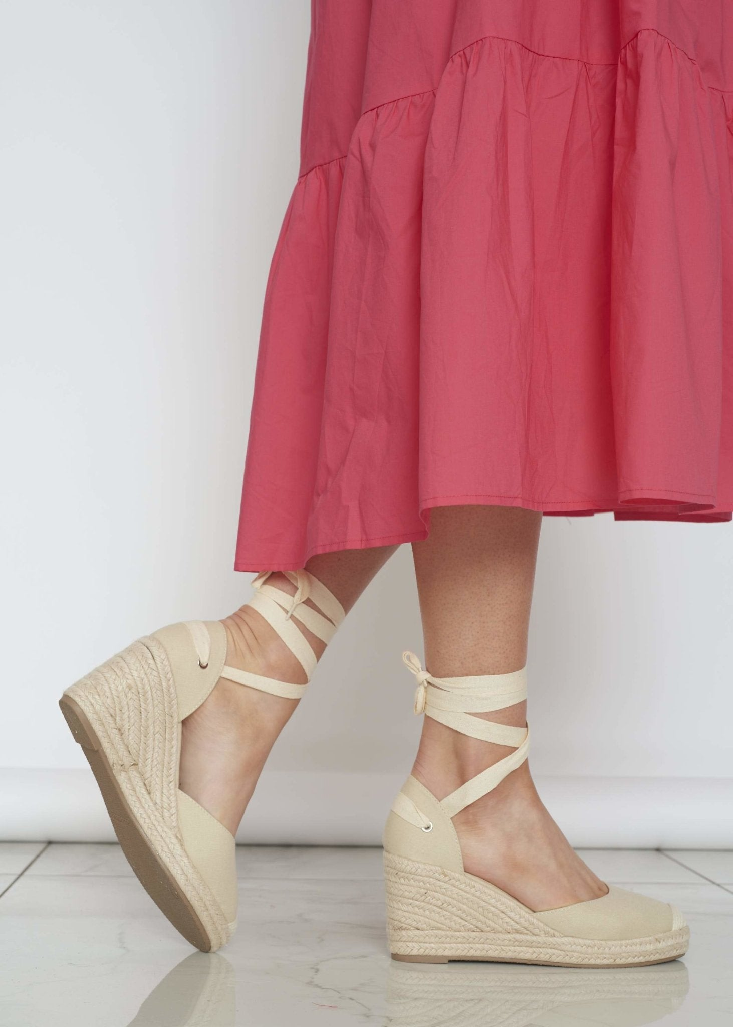 Priya Tie Wedge In Neutral - The Walk in Wardrobe