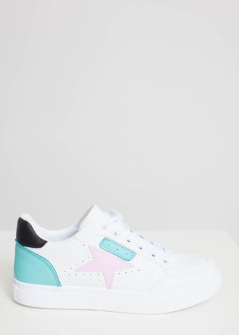 Priya Trainer With Pink Star - The Walk in Wardrobe
