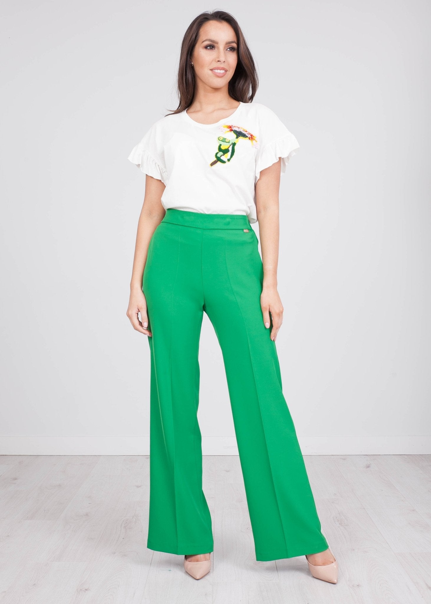 Rita Green Trousers - The Walk in Wardrobe