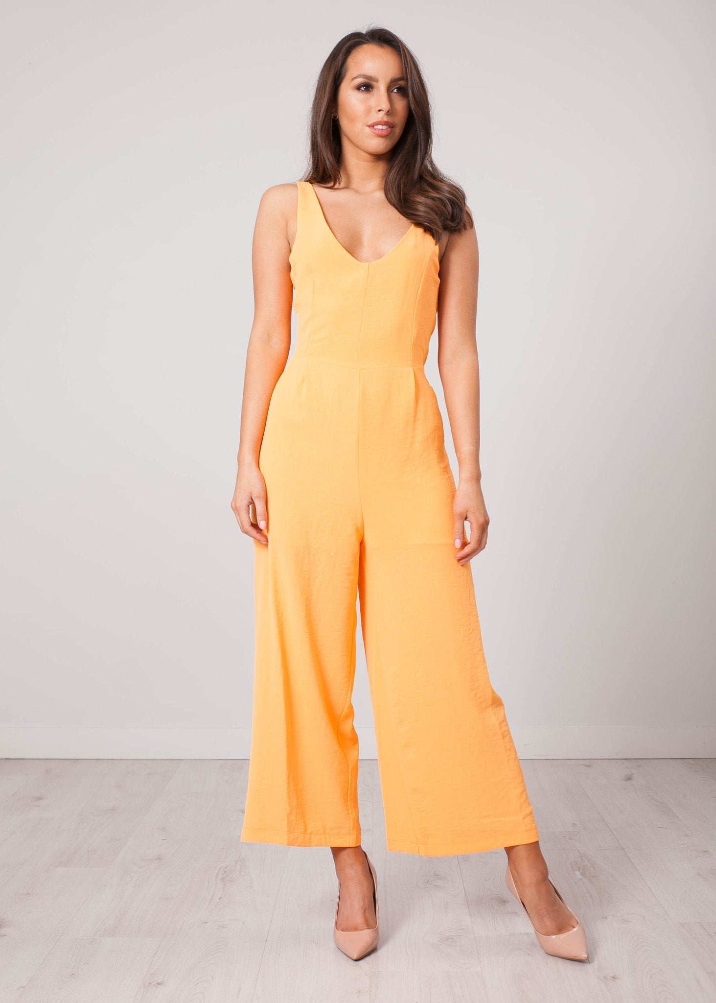 Rita Orange Jumpsuit - The Walk in Wardrobe