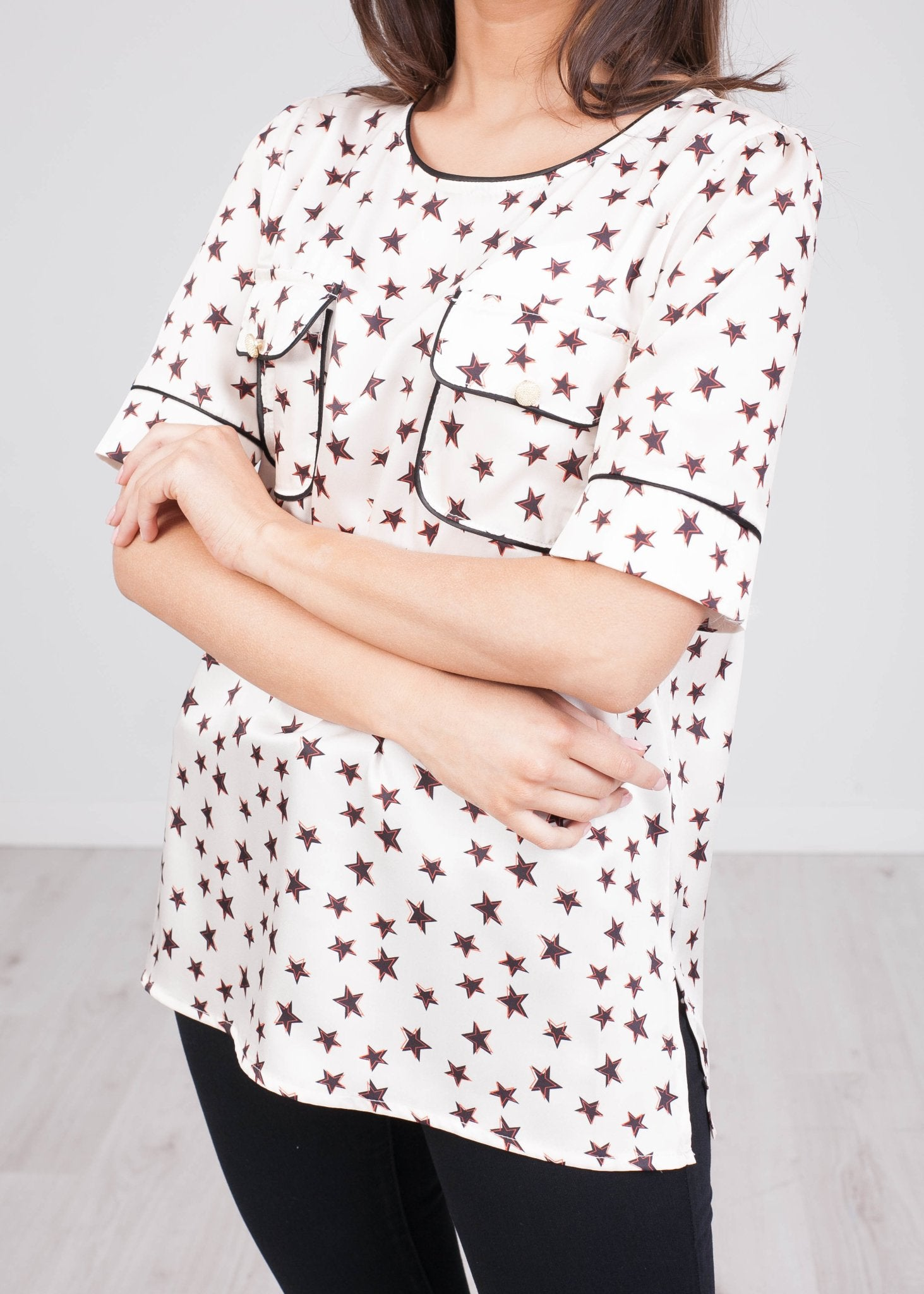 Rita Star Short Sleeve Top - The Walk in Wardrobe