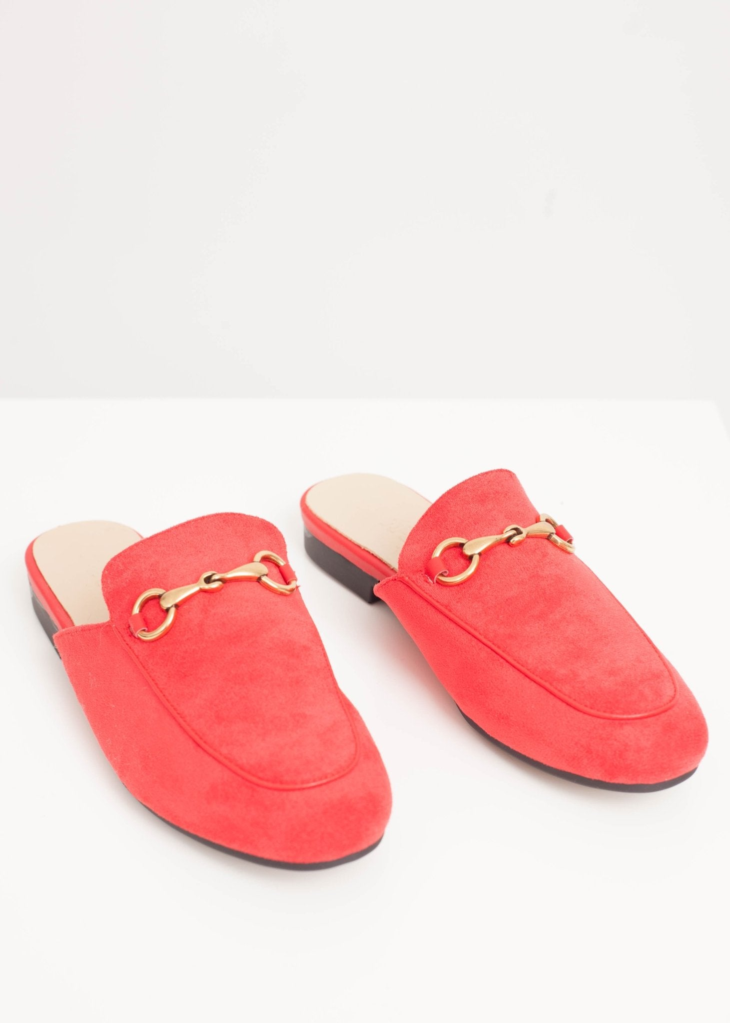 Rosie Mules In Red Velvet - The Walk in Wardrobe