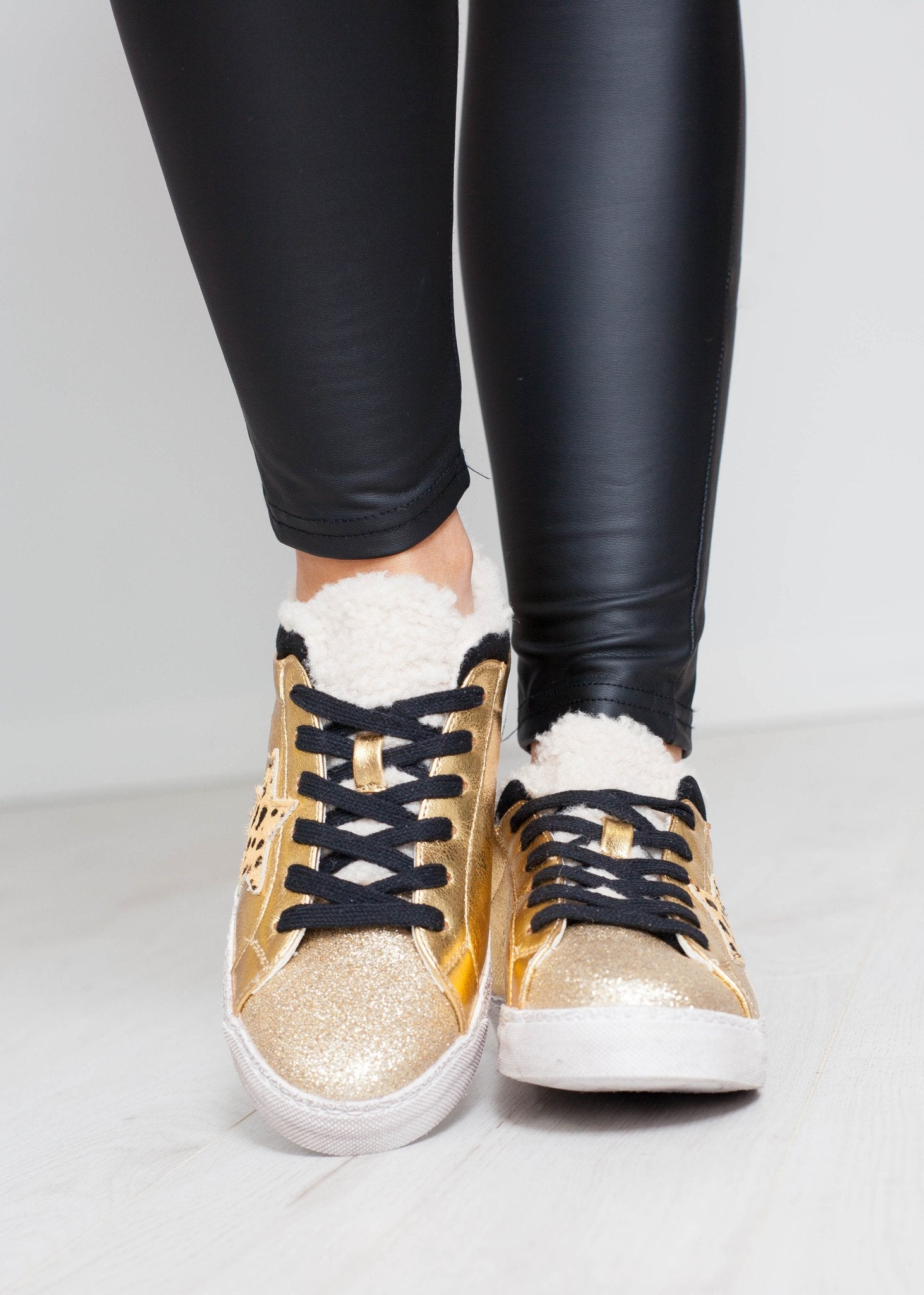 Ruby Star Trainer In Gold - The Walk in Wardrobe