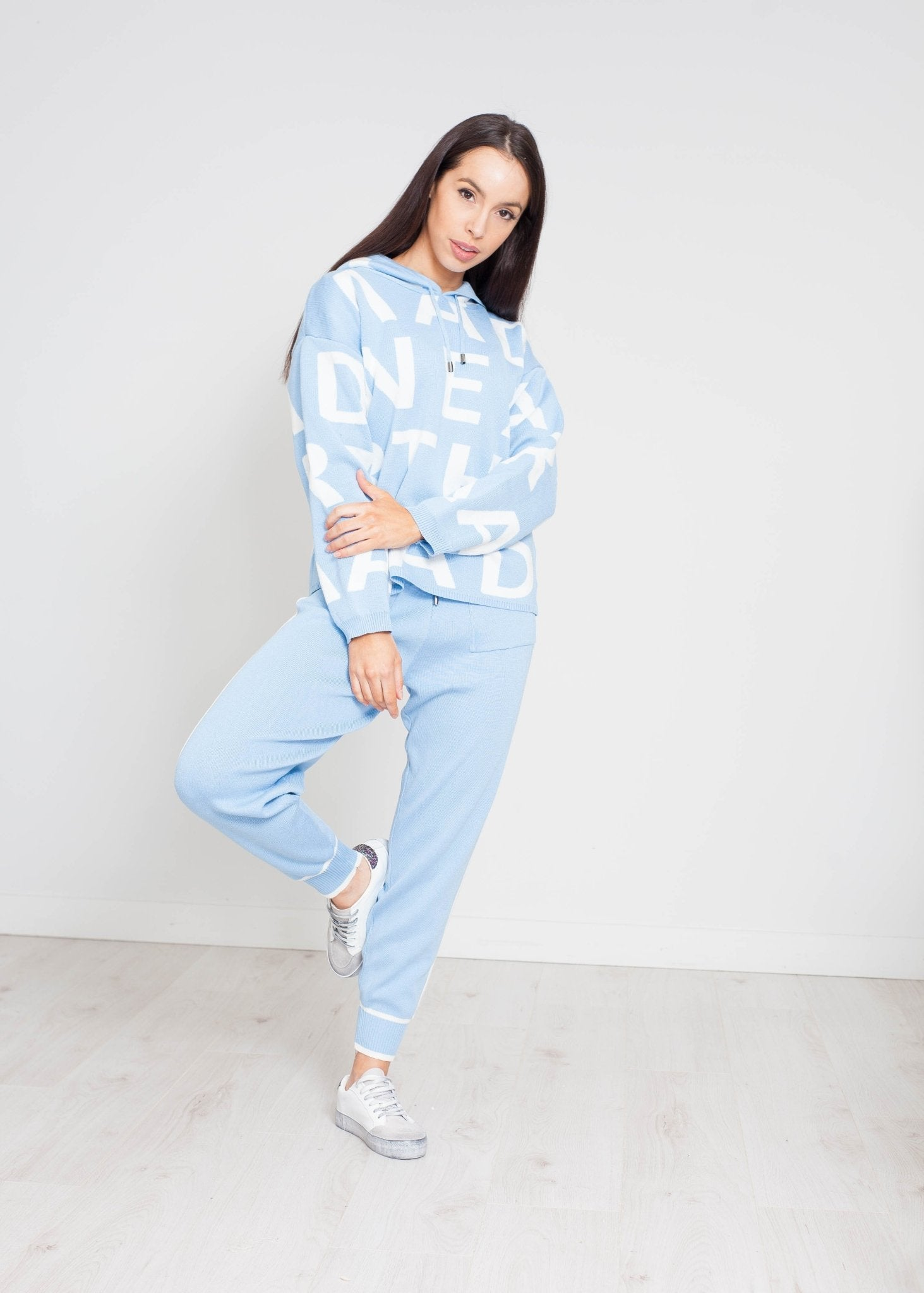 Samantha Alphabet Lounge Set In Blue - The Walk in Wardrobe