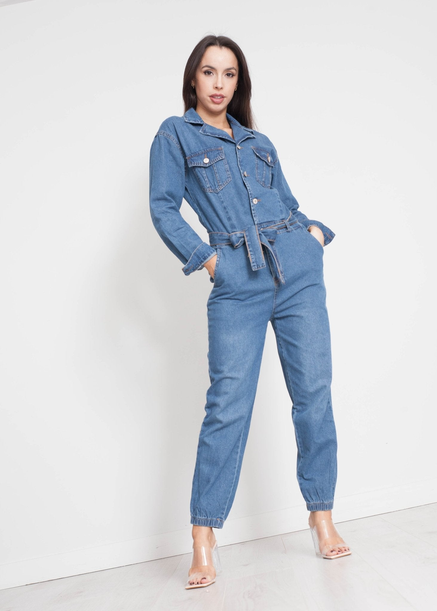 Samantha Jumpsuit In Denim - The Walk in Wardrobe