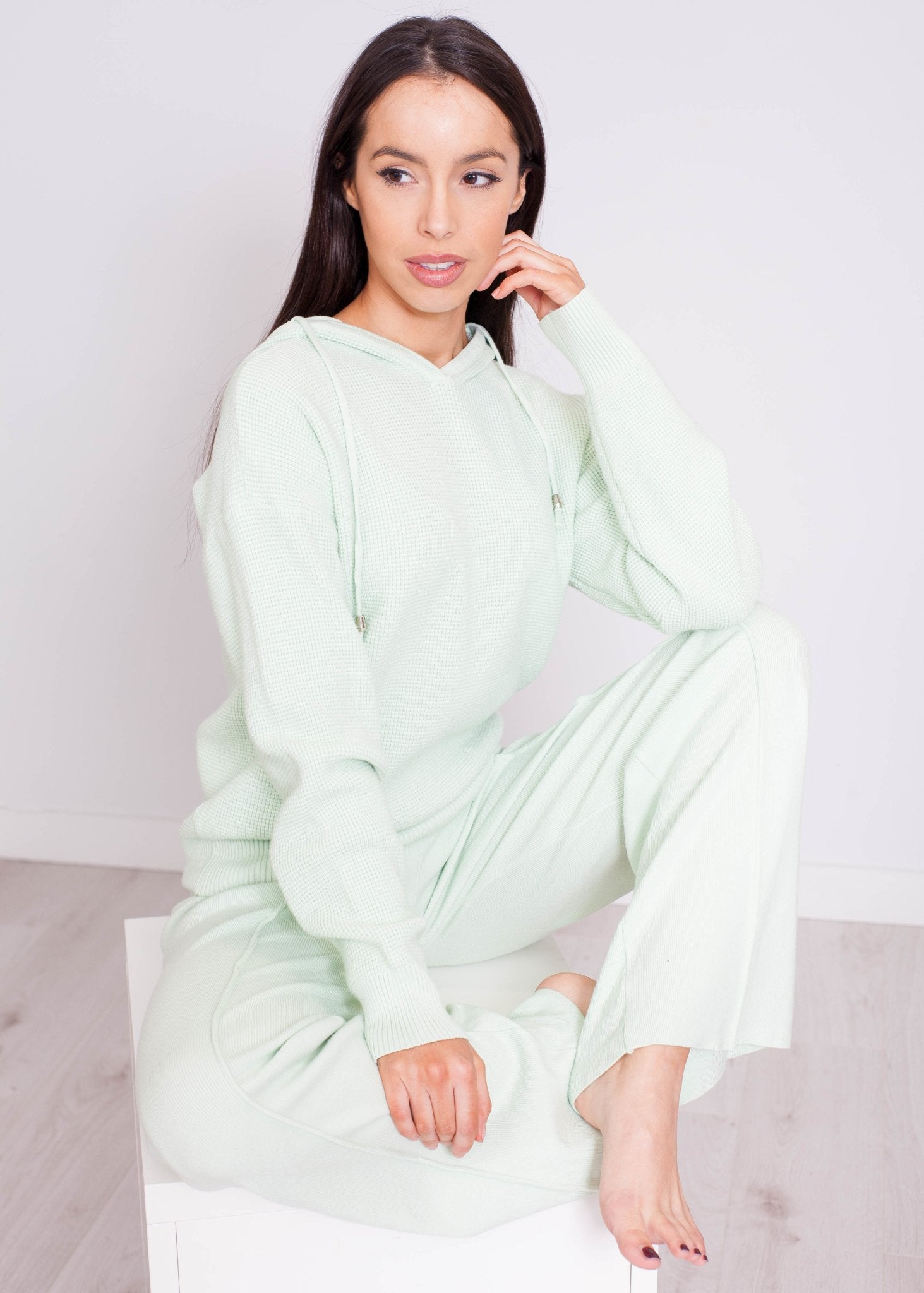 Samantha Knit Lounge Set In Mint - The Walk in Wardrobe
