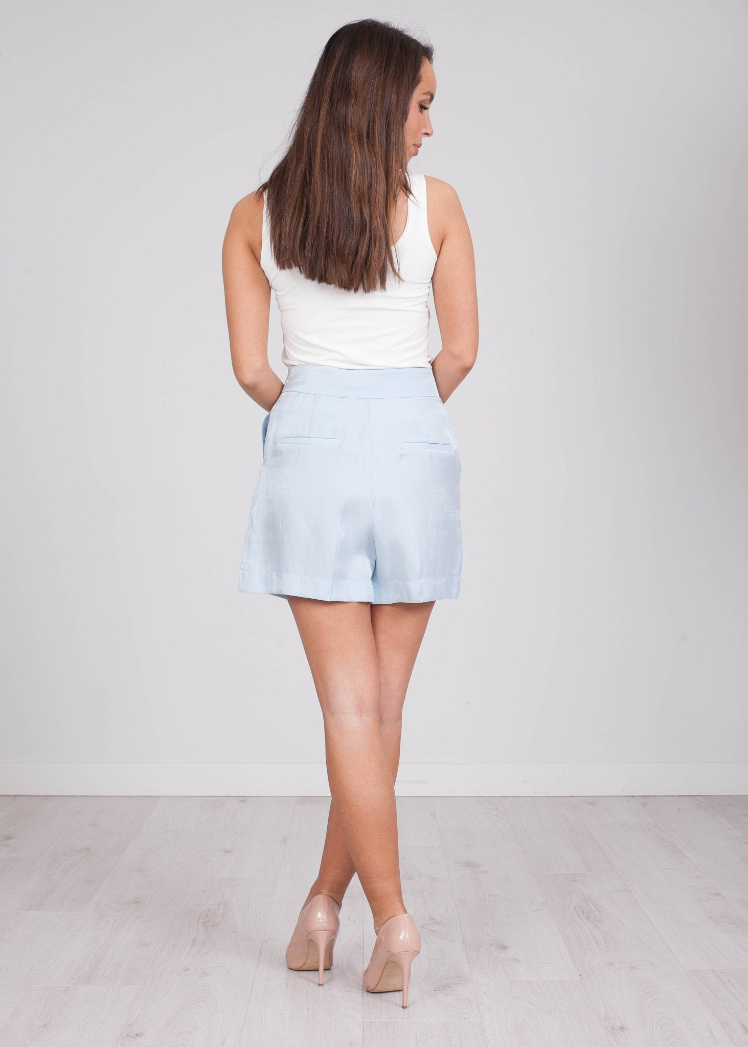 Savannah Baby Blue Shorts - The Walk in Wardrobe