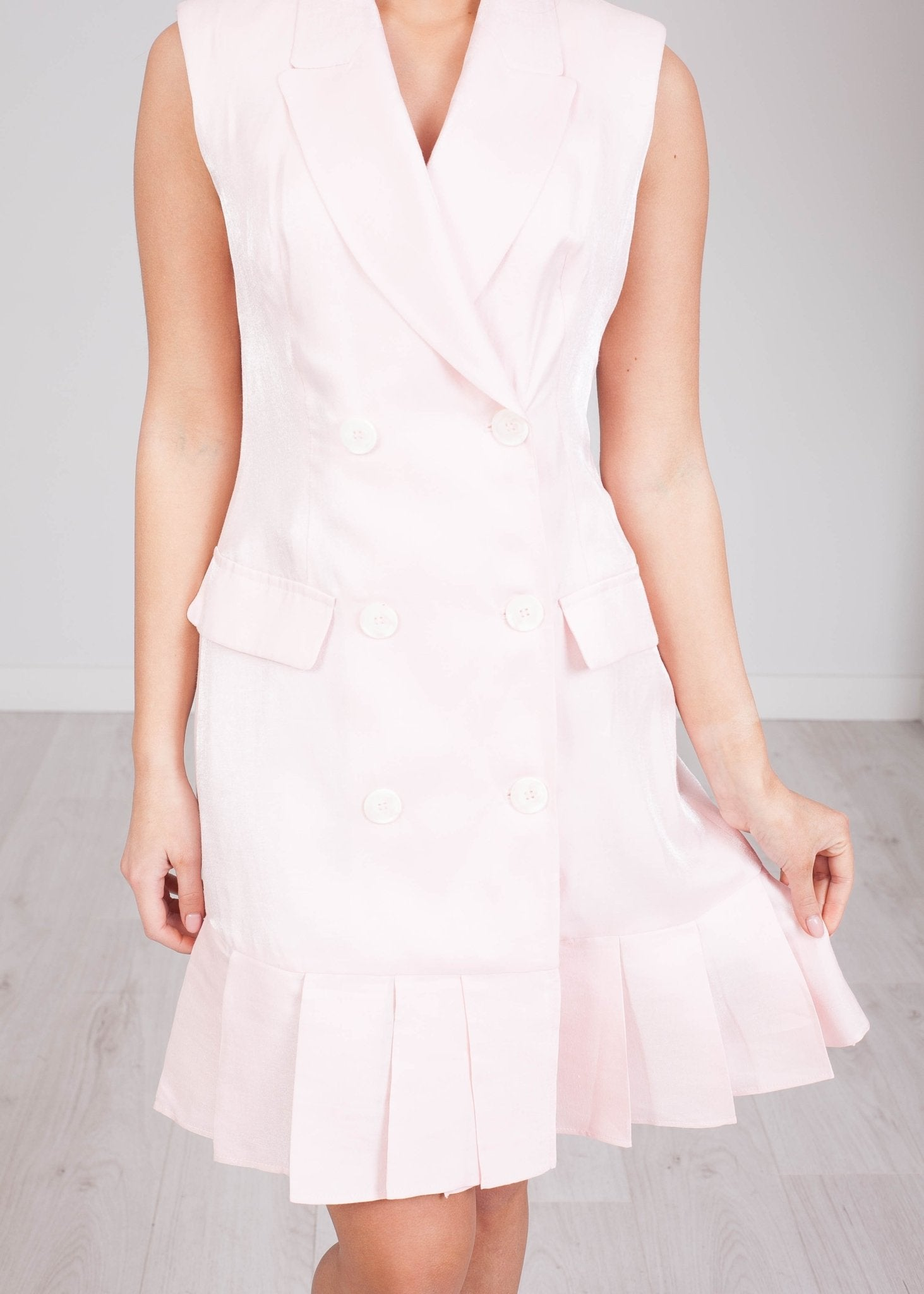 Savannah Baby Pink Blazer Dress - The Walk in Wardrobe