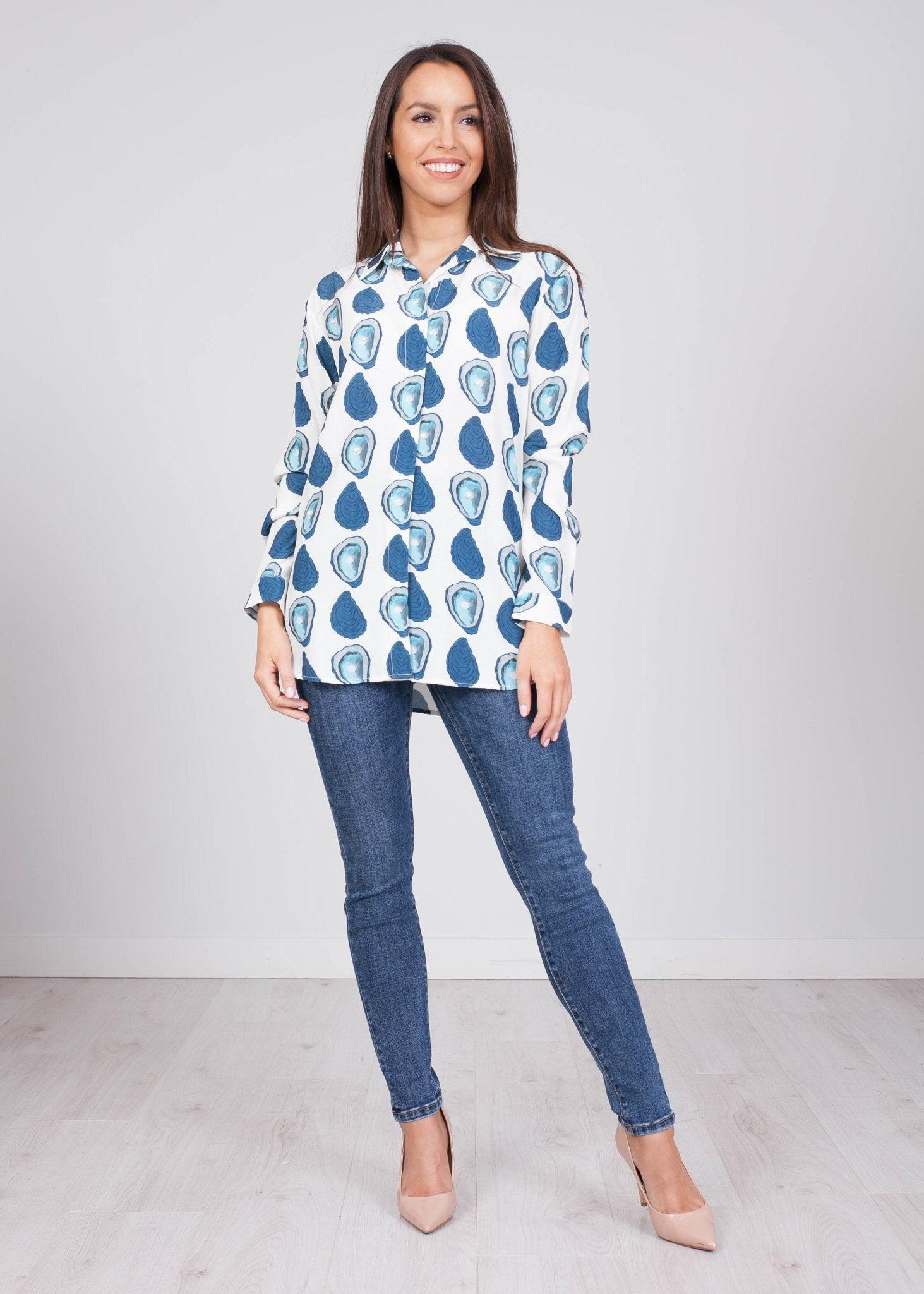 Savannah Blue Printed Blouse - The Walk in Wardrobe
