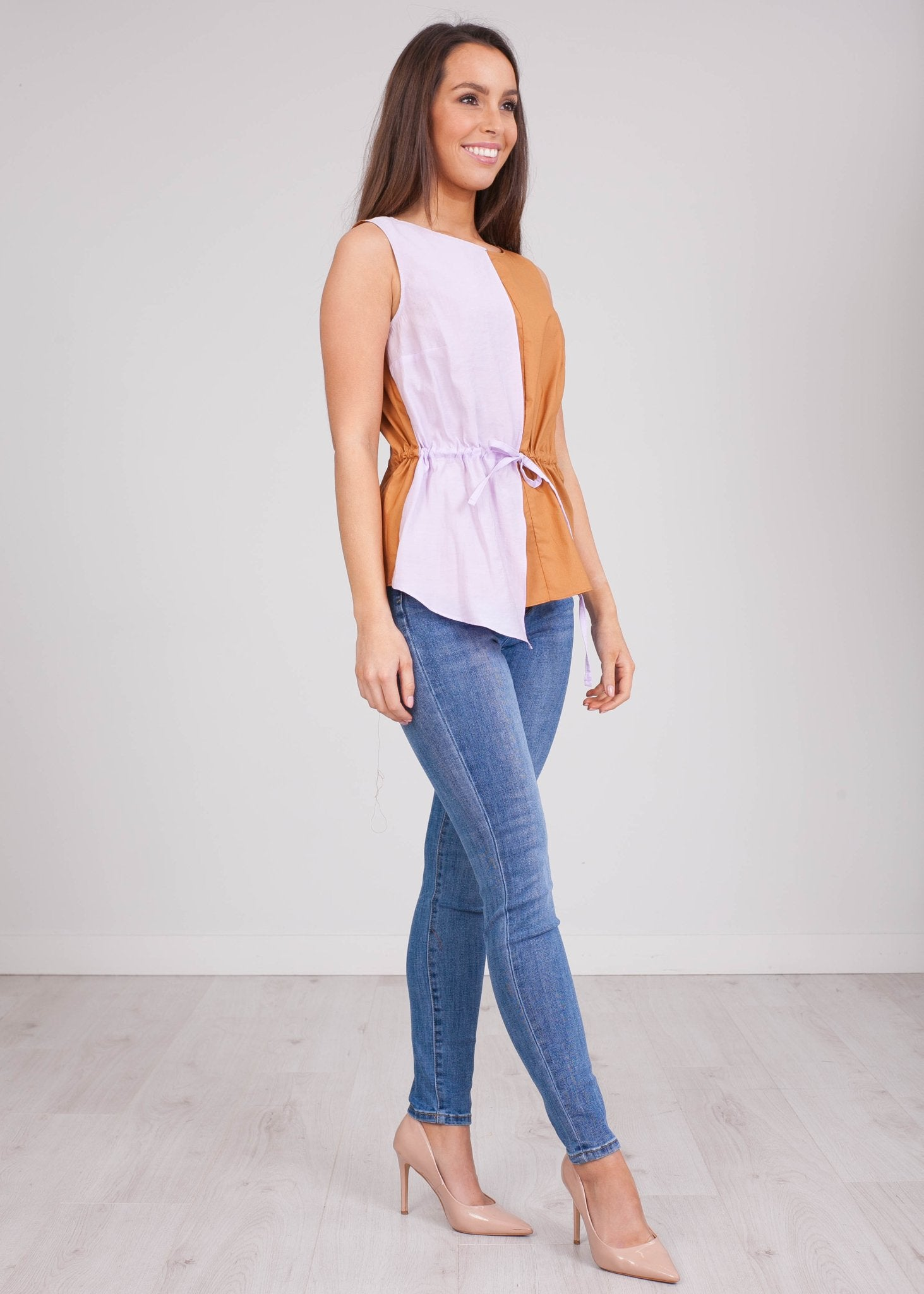 Savannah Lilac & Tan Top - The Walk in Wardrobe