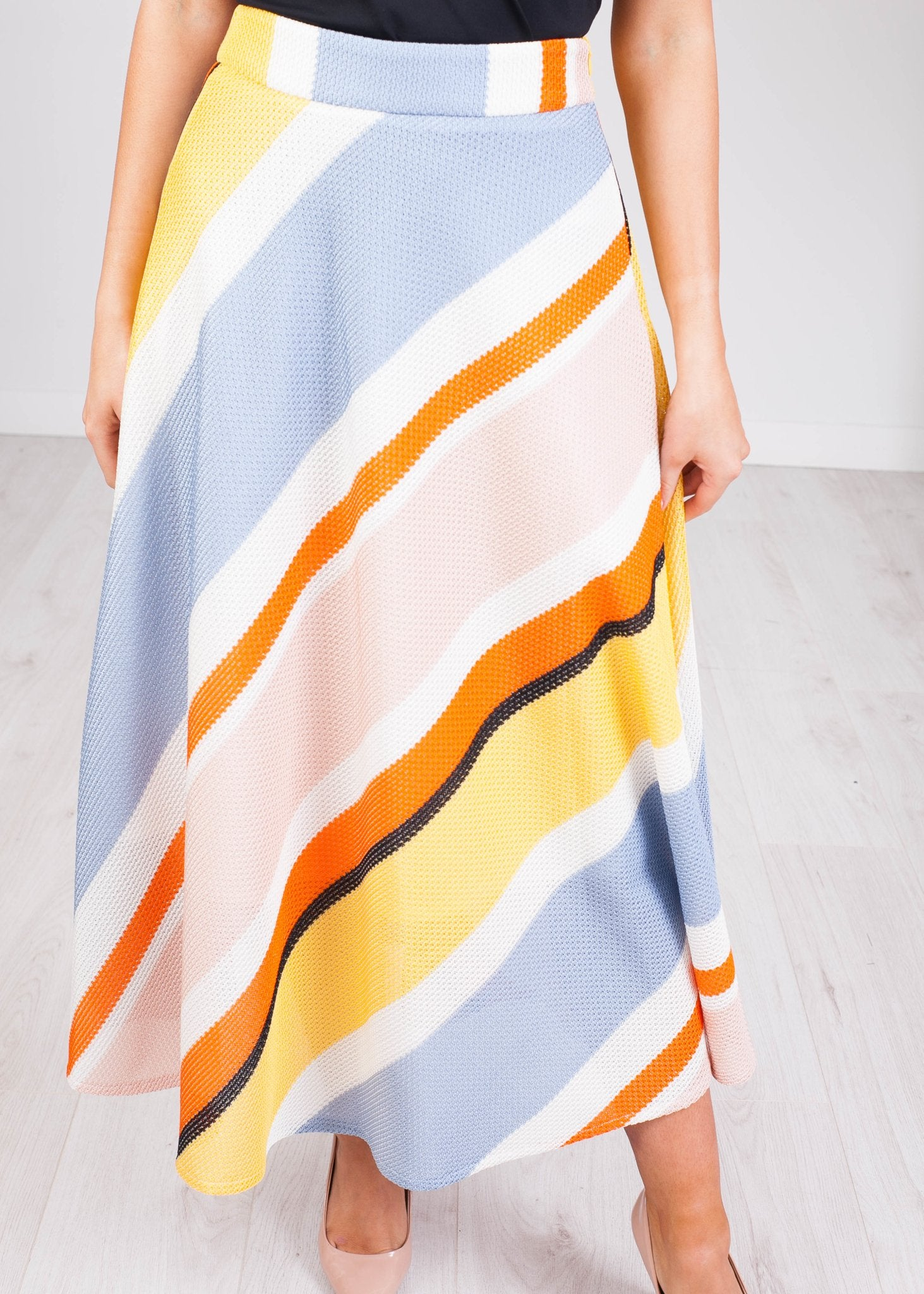Savannah Multicoloured Midi Skirt - The Walk in Wardrobe