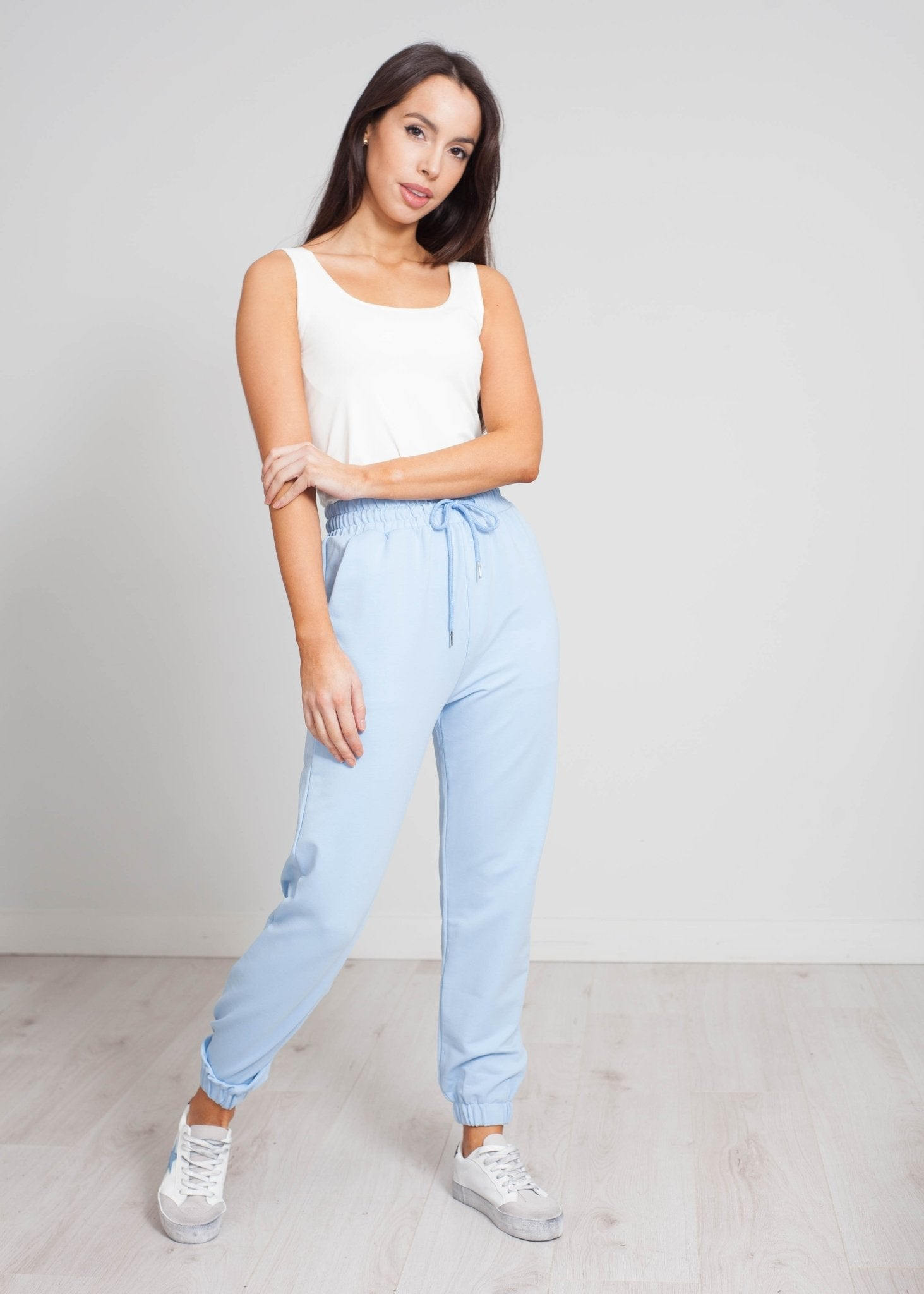 Scarlet Joggers In Blue - The Walk in Wardrobe
