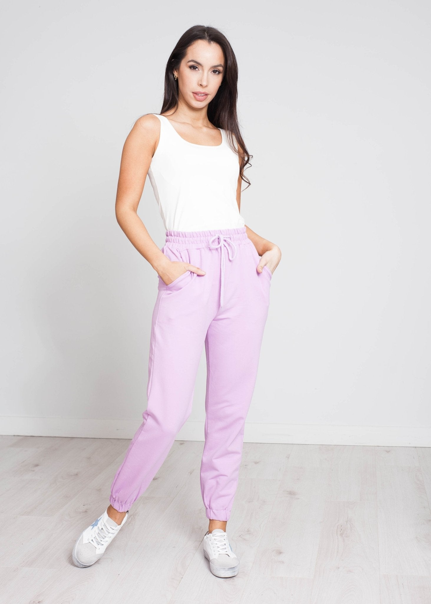 Scarlet Joggers In Lilac - The Walk in Wardrobe