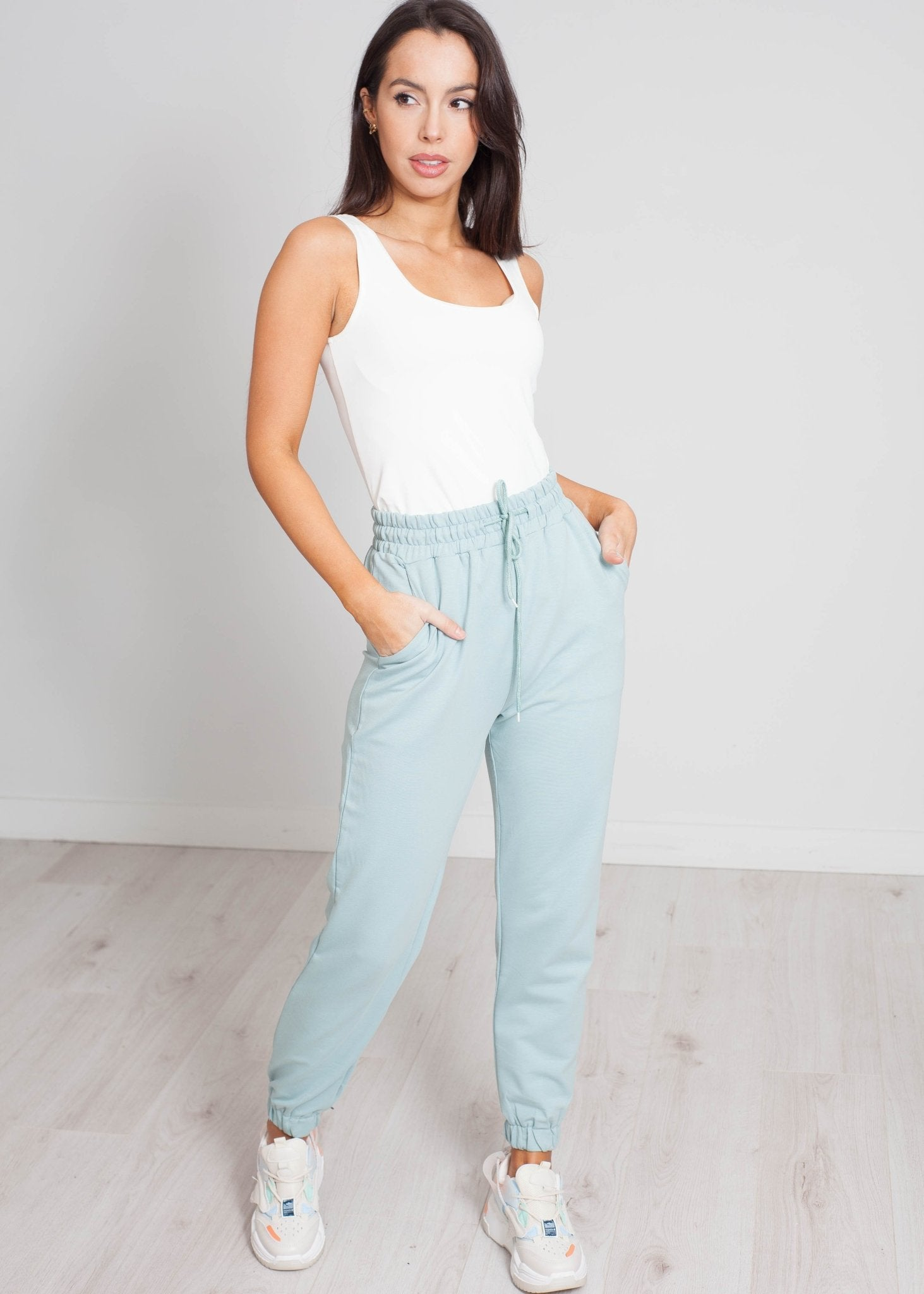Scarlet Joggers In Mint - The Walk in Wardrobe