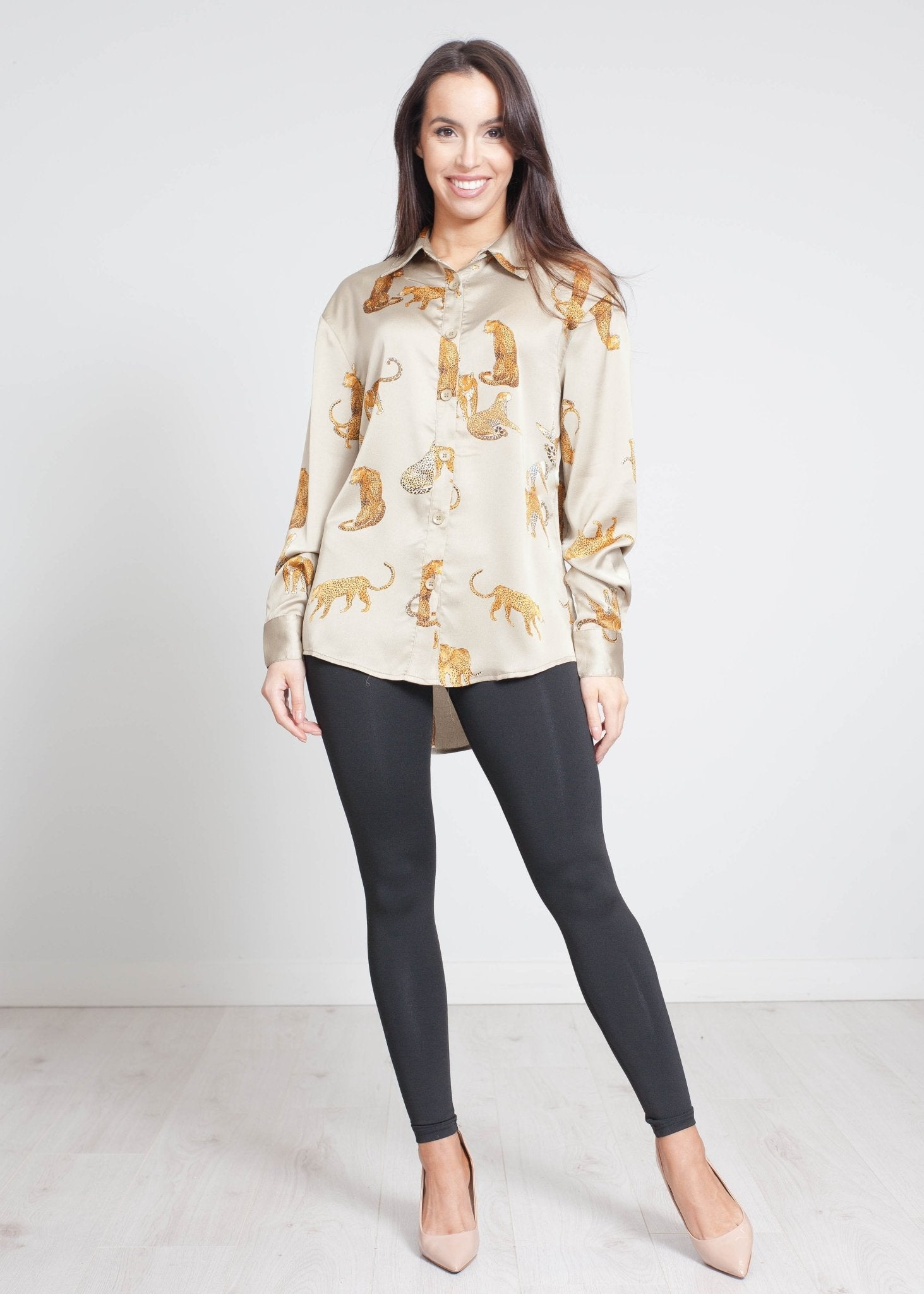 Scarlet Leopard Shirt In Khaki - The Walk in Wardrobe