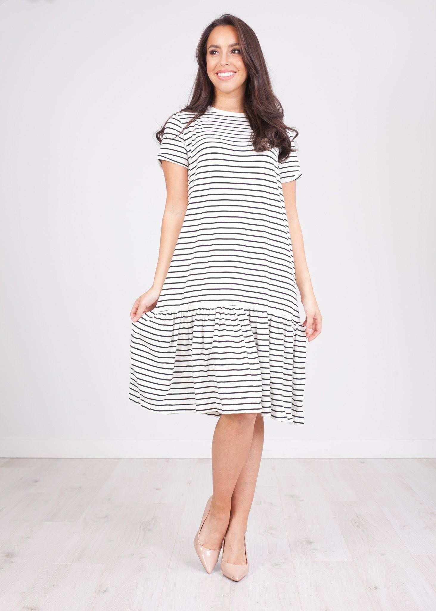 Sissy Black & White Stripe Dress - The Walk in Wardrobe