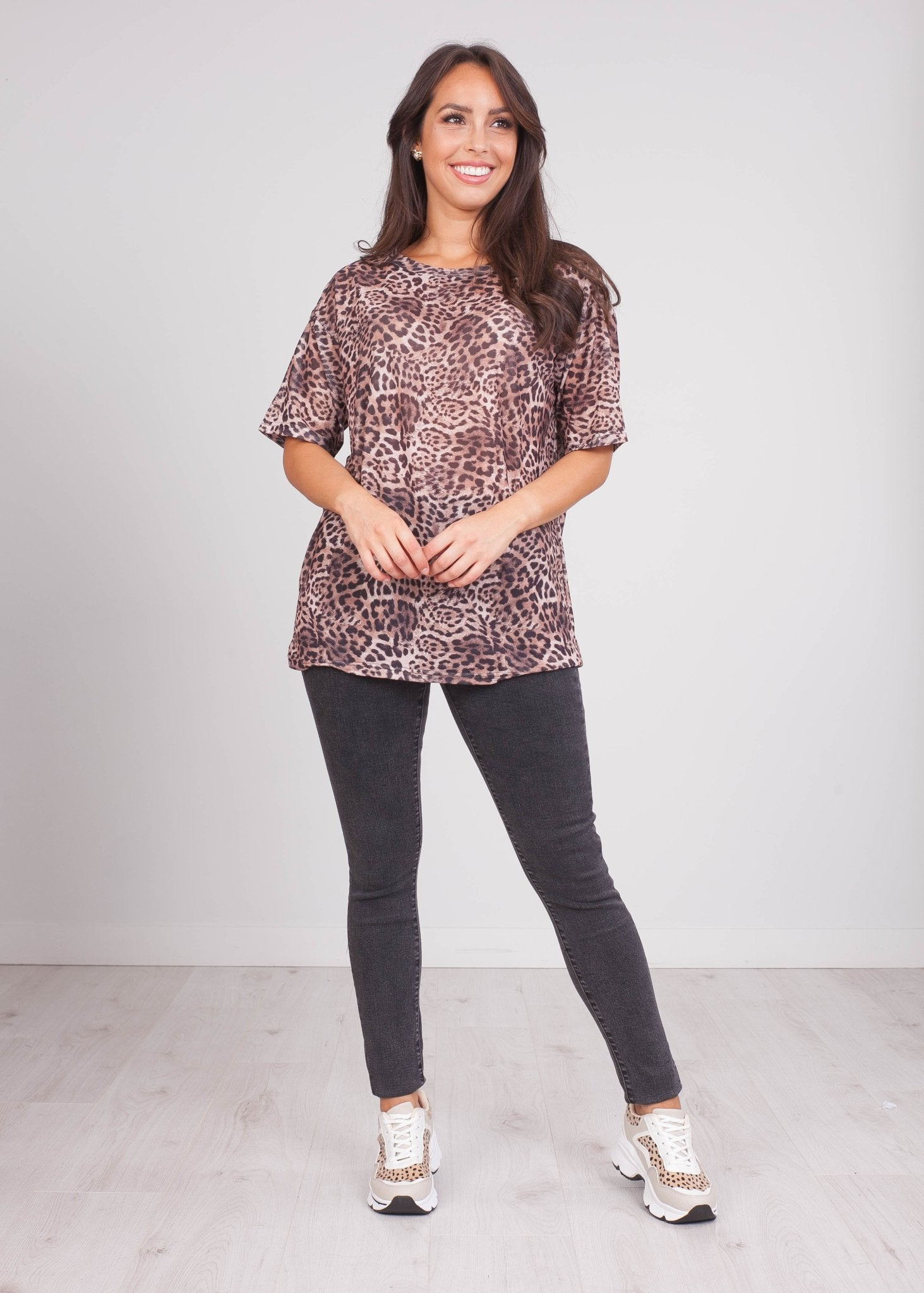Sissy Leopard Print T-Shirt - The Walk in Wardrobe